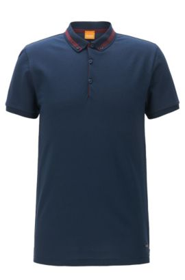 Cotton Piqué Polo Shirt, Regular Fit | Pejo, Dark Blue