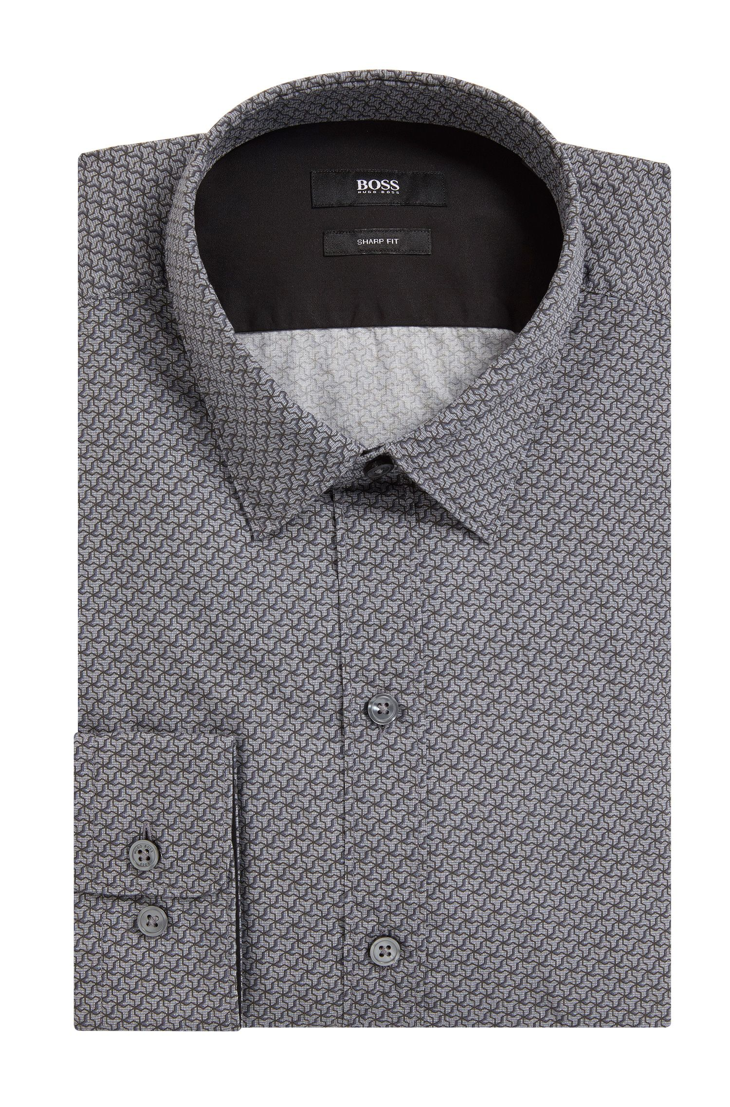 Cotton Poplin Button Down Shirt, Slim Fit | Robbie