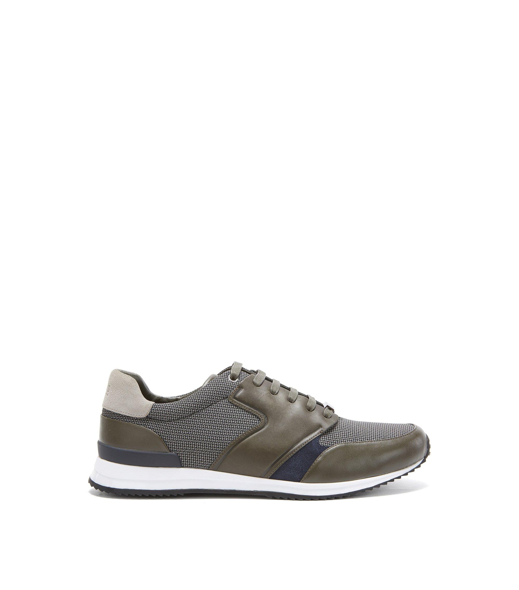 Mesh, Leather Sneaker | Legacy Runn Mx, Green