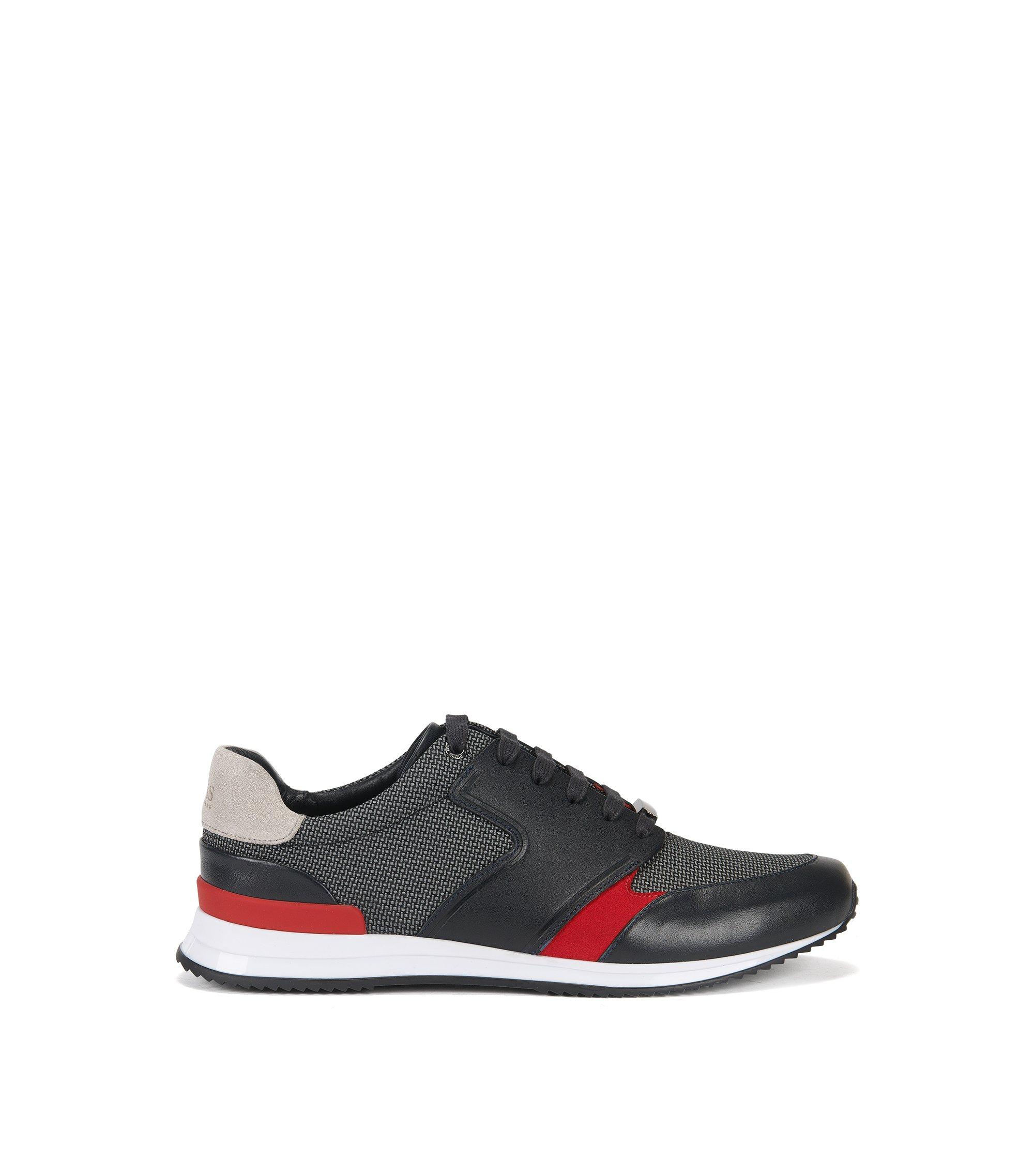 Mesh, Leather Sneaker | Legacy Runn Mx, Blue