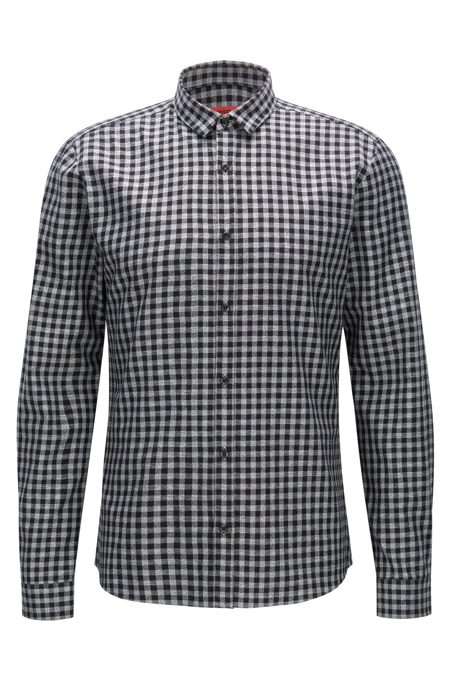 Gingham Cotton Button Down Shirt, Extra Slim Fit | Ero