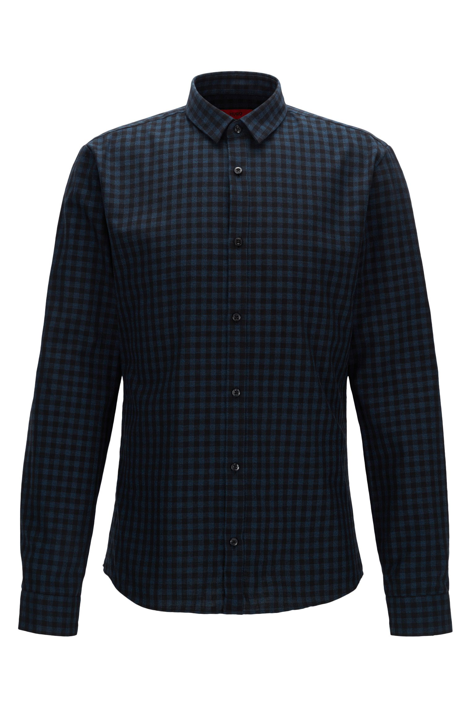 'Ero' | Extra Slim Fit, Gingham Cotton Button Down Shirt