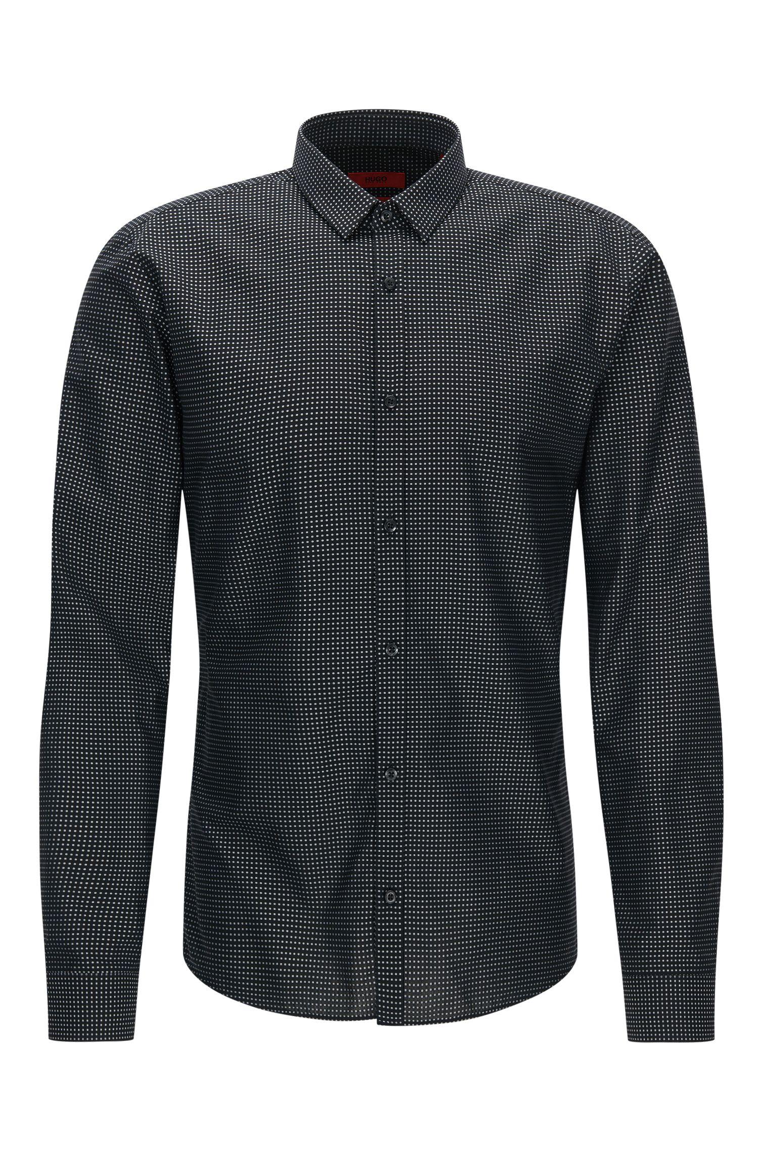 Fil Coupe Cotton Button Down Shirt, Extra Slim Fit   Ero