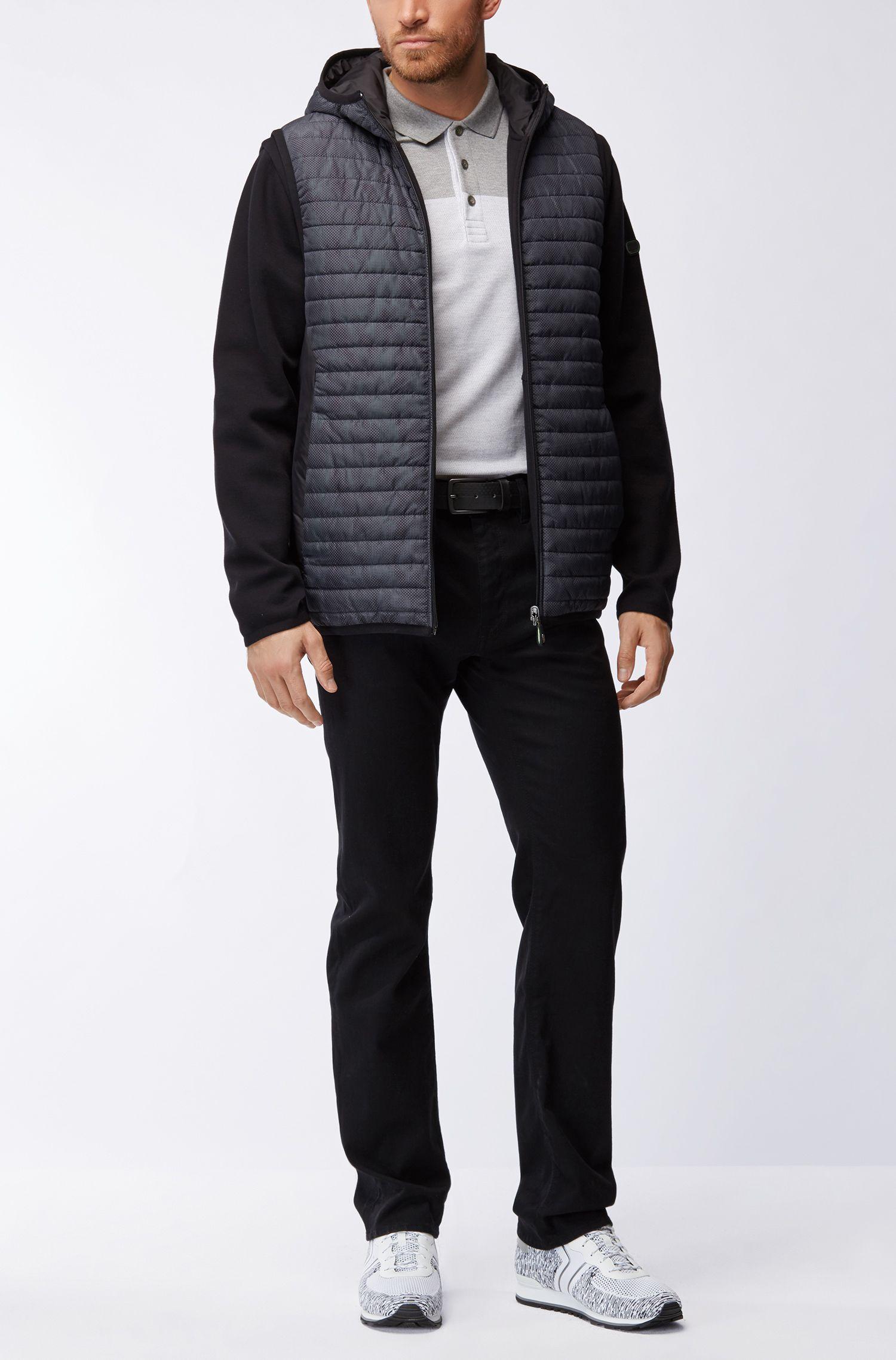 Colorblocked Cotton Polo Shirt, Slim Fit | Pleesy