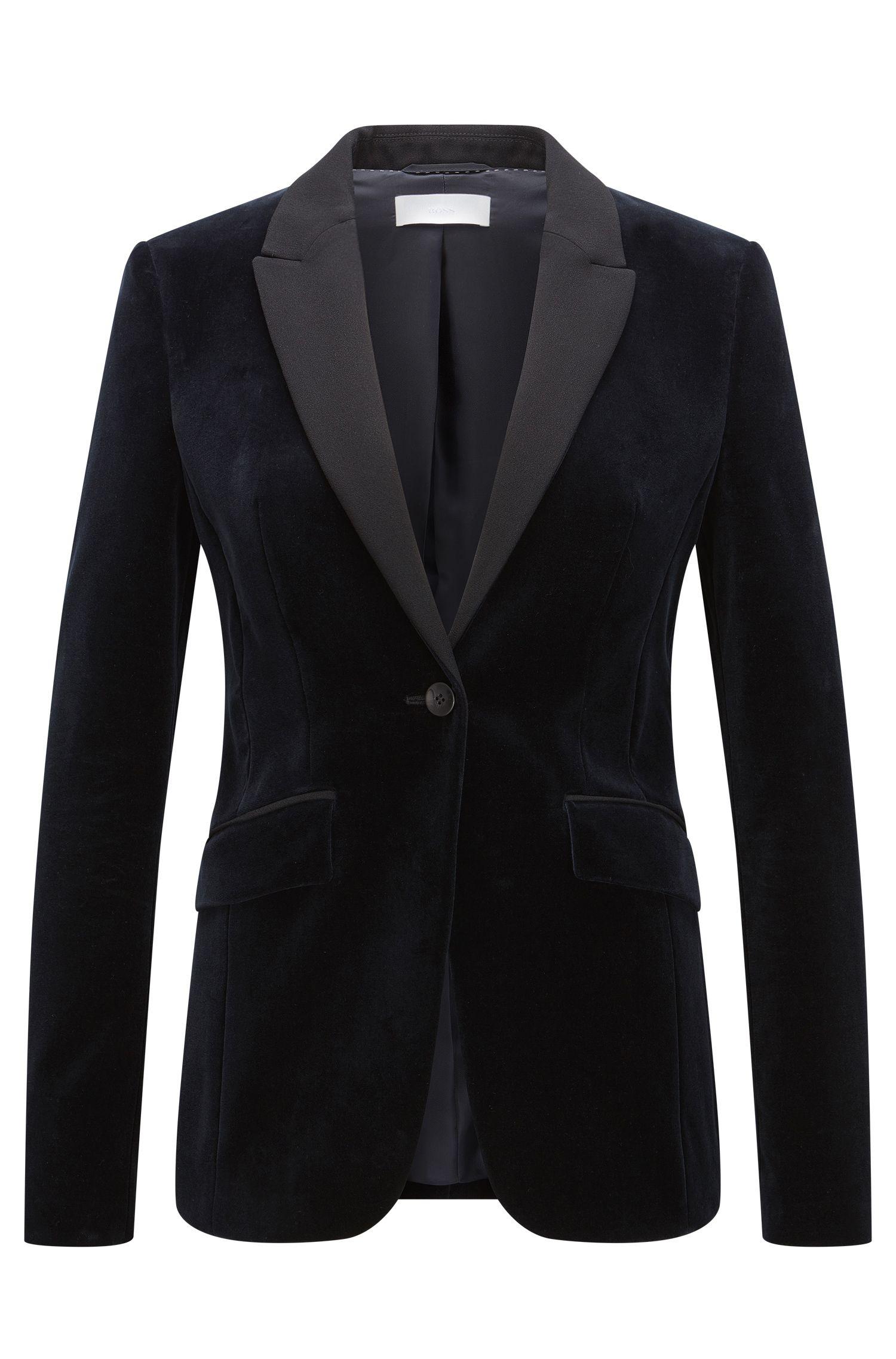 Velvet Tuxedo Jacket | Jeronala
