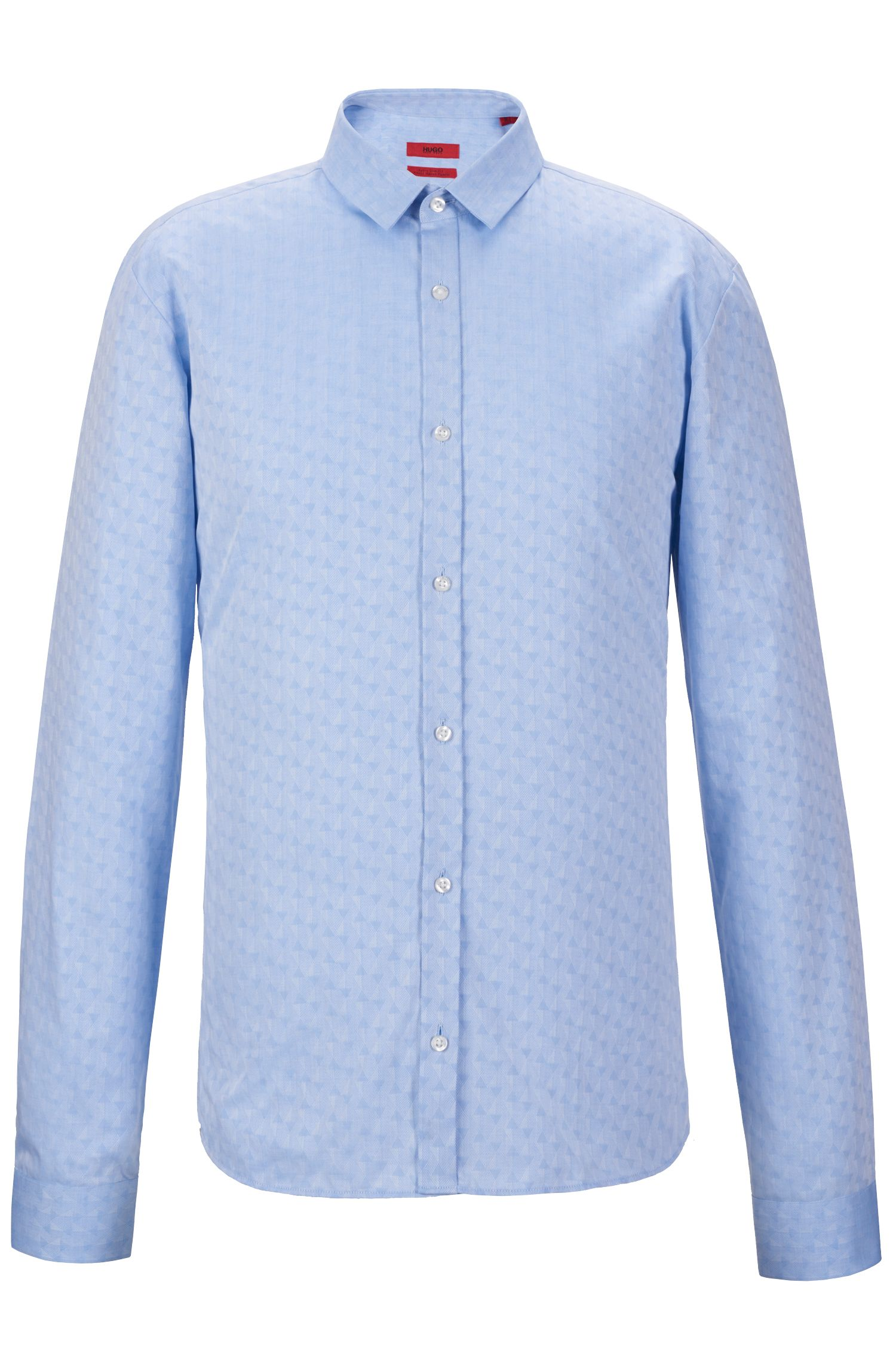 Jacquard Cotton Button Down Shirt, Extra Slim Fit | Ero