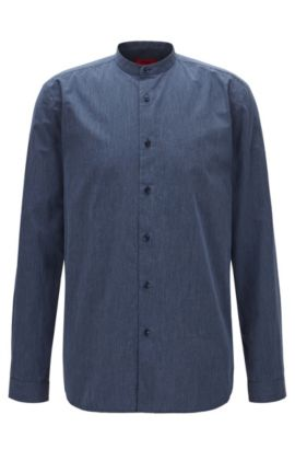 Cotton Button Down Shirt, Relaxed Fit | Eddison, Blue