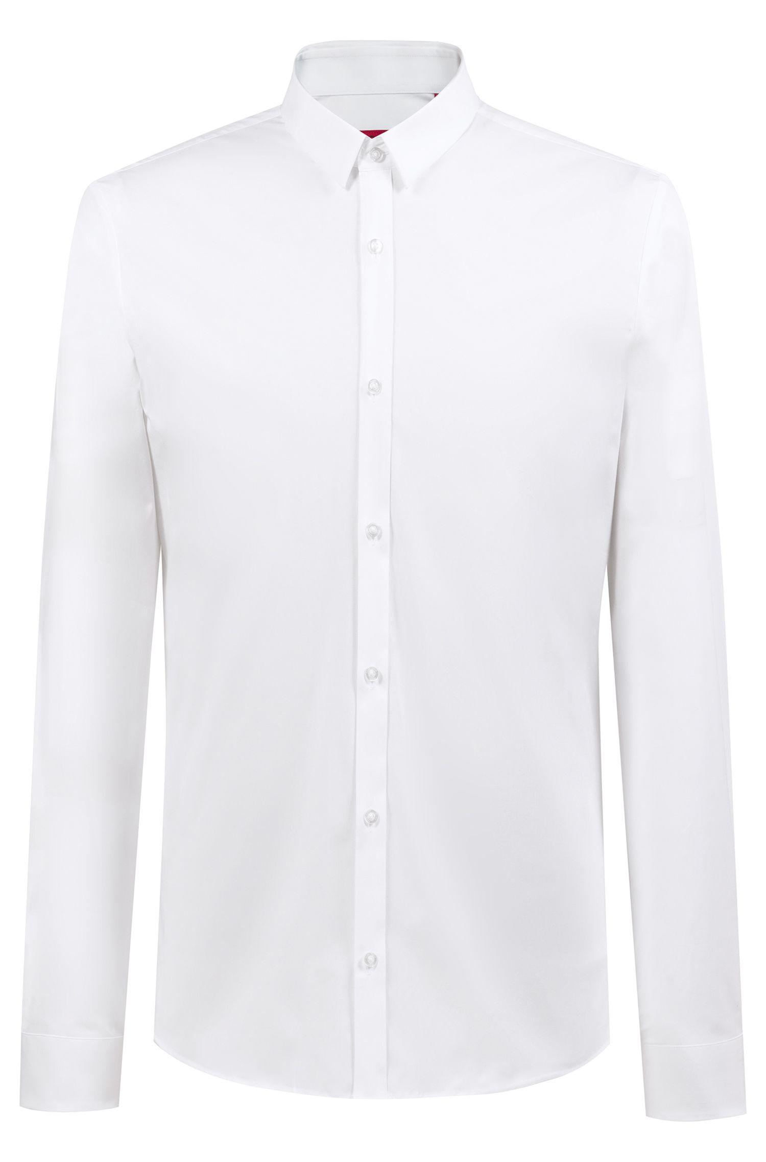 Stretch Cotton Button Down Shirt, Extra Slim Fit | Ero, Open White