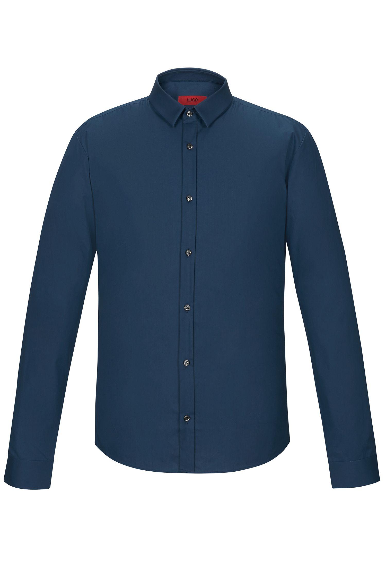 Stretch Cotton Button Down Shirt, Extra Slim Fit   Ero