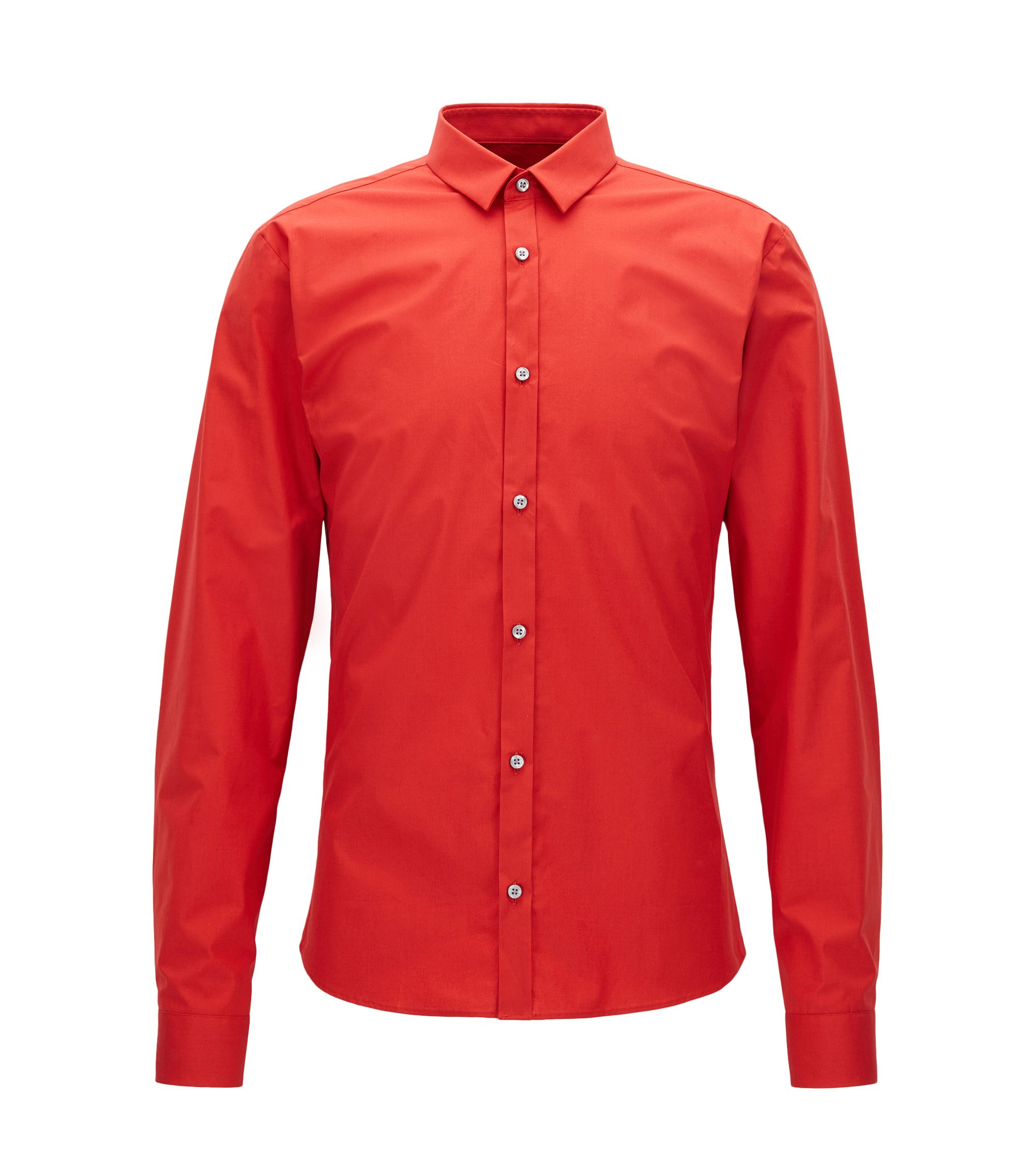 Stretch Cotton Button Down Shirt, Extra Slim Fit | Ero, Light Red
