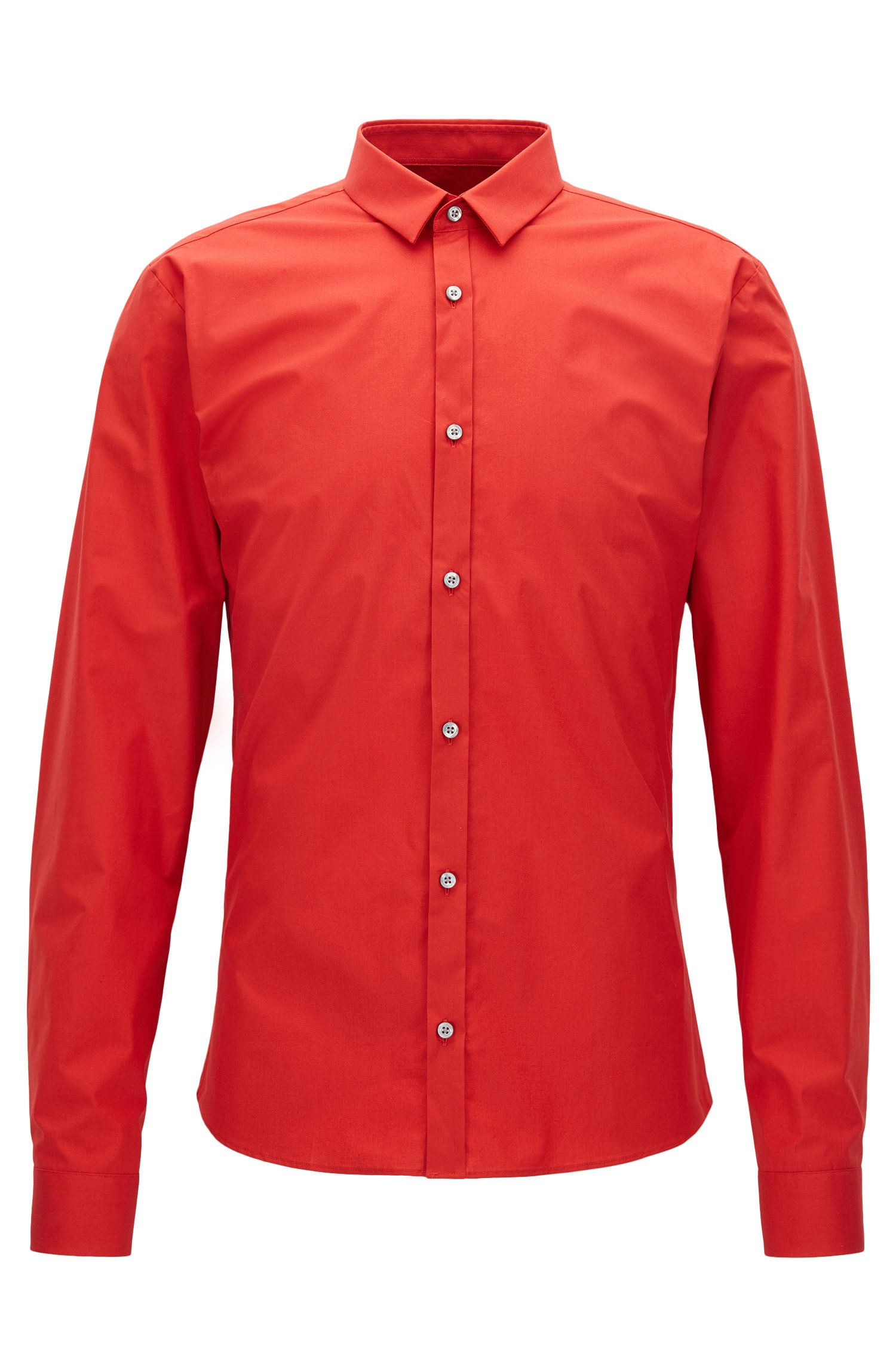 Stretch Cotton Button Down Shirt, Extra Slim Fit | Ero