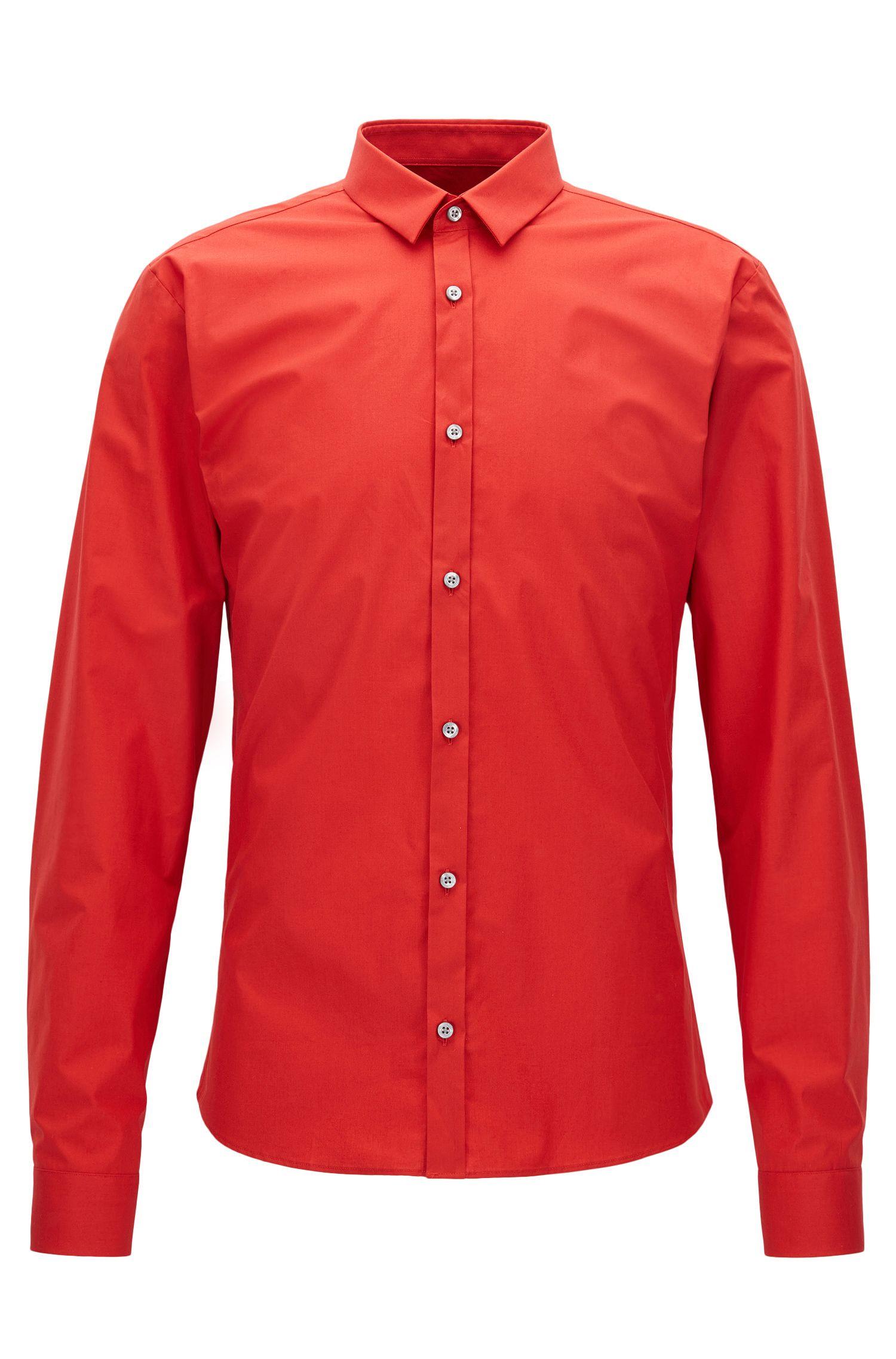 Stretch Cotton Button Down Shirt, Extra Slim Fit | Ero