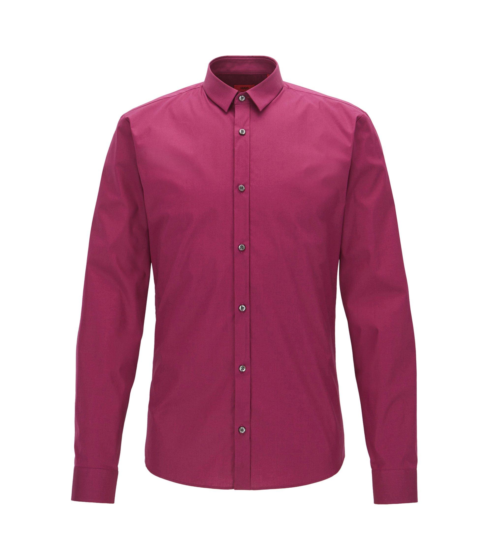 Stretch Cotton Button Down Shirt, Extra Slim Fit | Ero, Dark pink