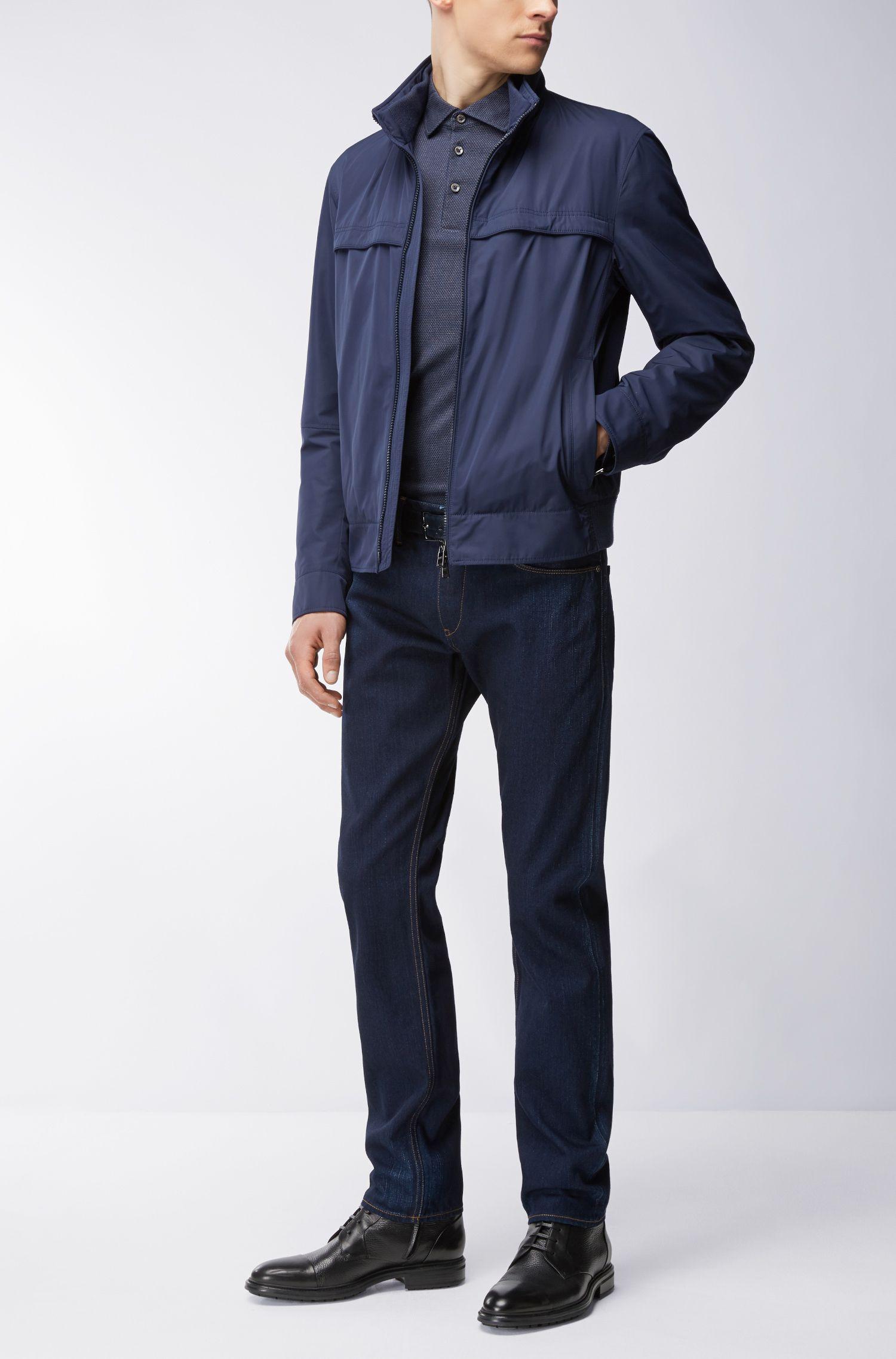 Jacquard Cotton Polo Shirt, Slim Fit | Paver