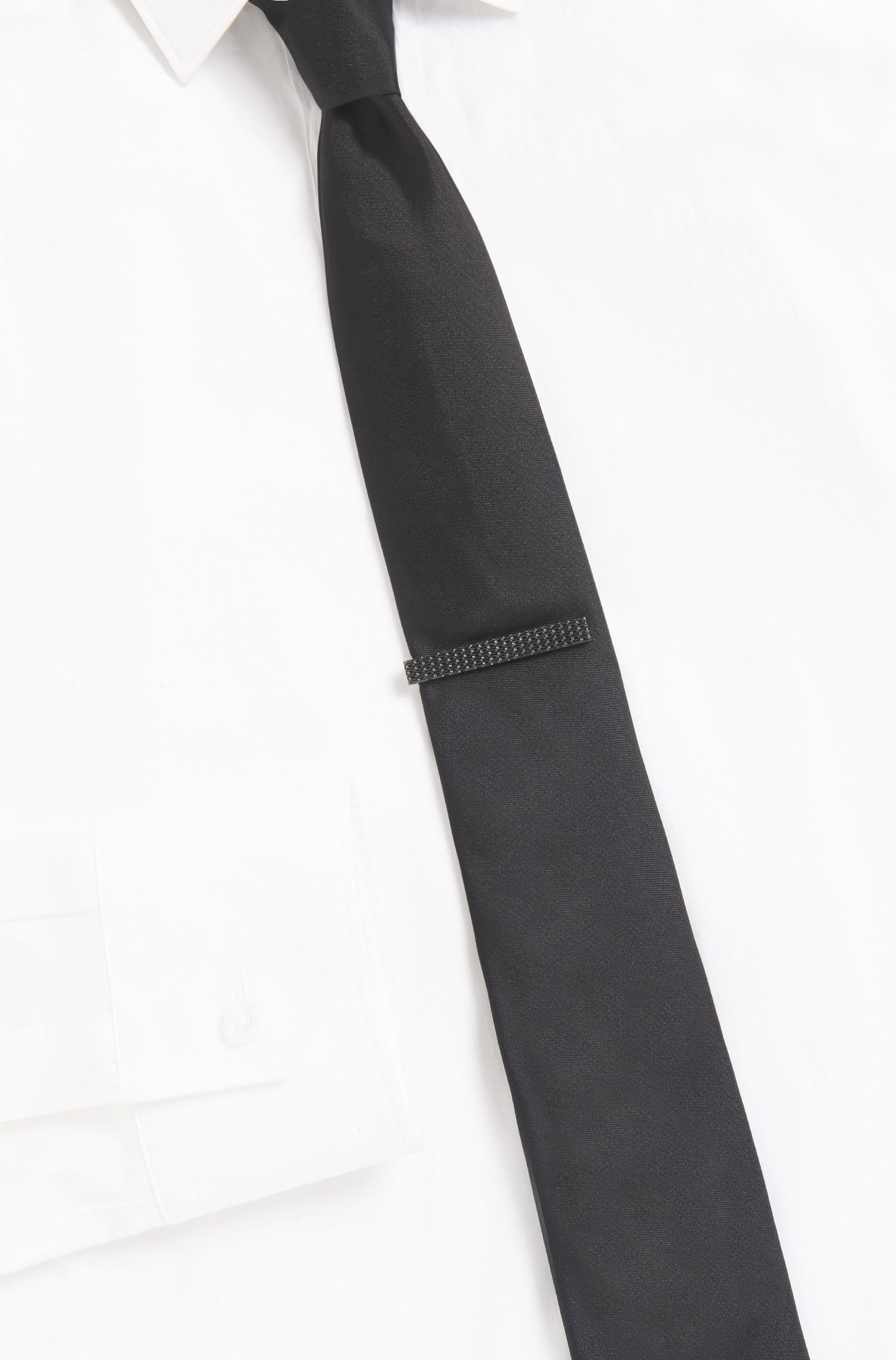Woven Brass Tie Bar | E Milanese Tie Bar