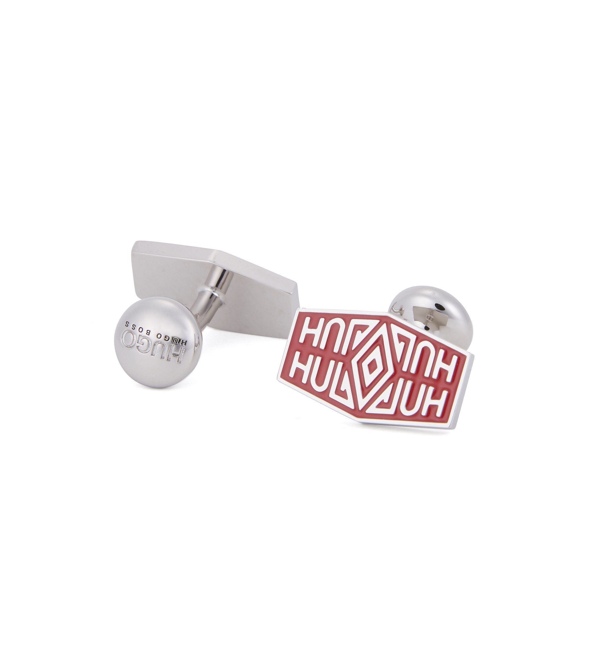 Enamel Brass Cufflinks | E Native, Dark Red