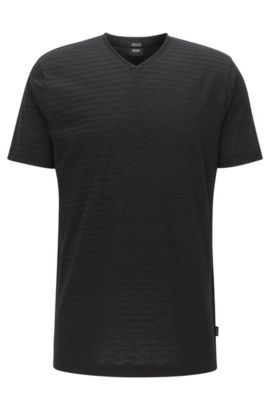 Striped Pima Cotton T-Shirt | Tilson, Black