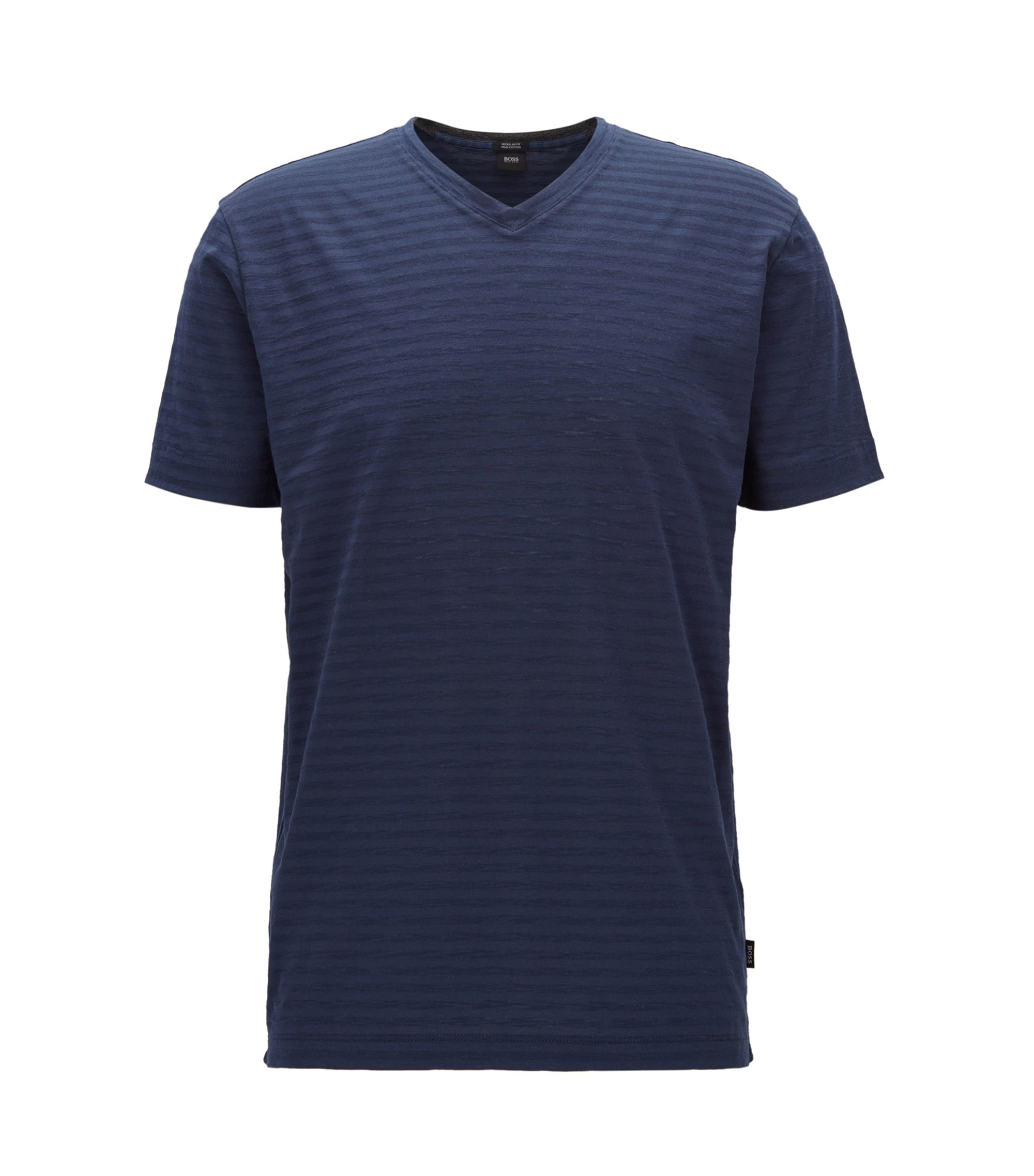 Striped Pima Cotton T-Shirt | Tilson, Dark Blue