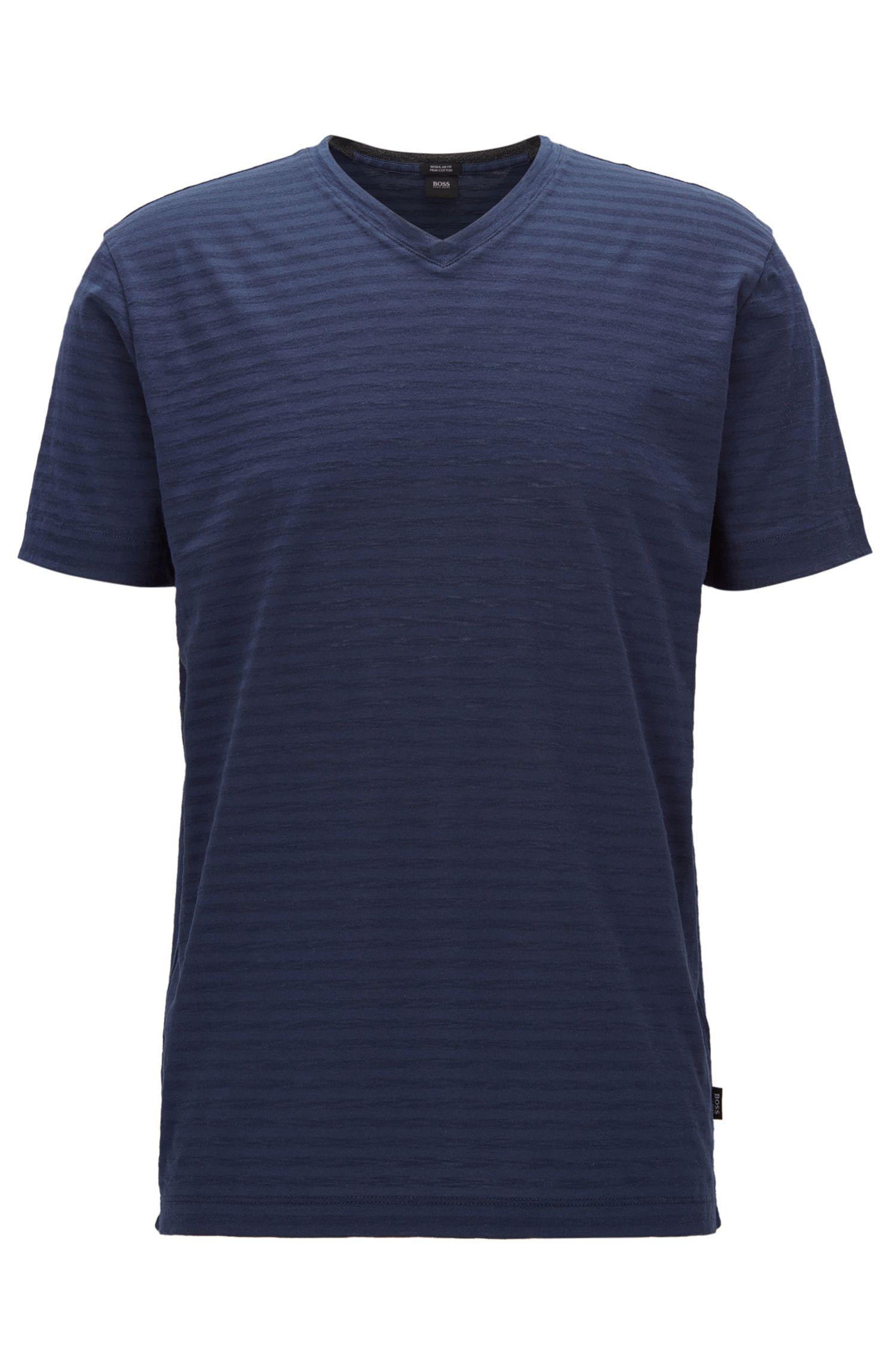 Striped Pima Cotton T-Shirt | Tilson