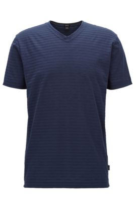 Striped Pima Cotton T-Shirt | Tilson, Dark Blue