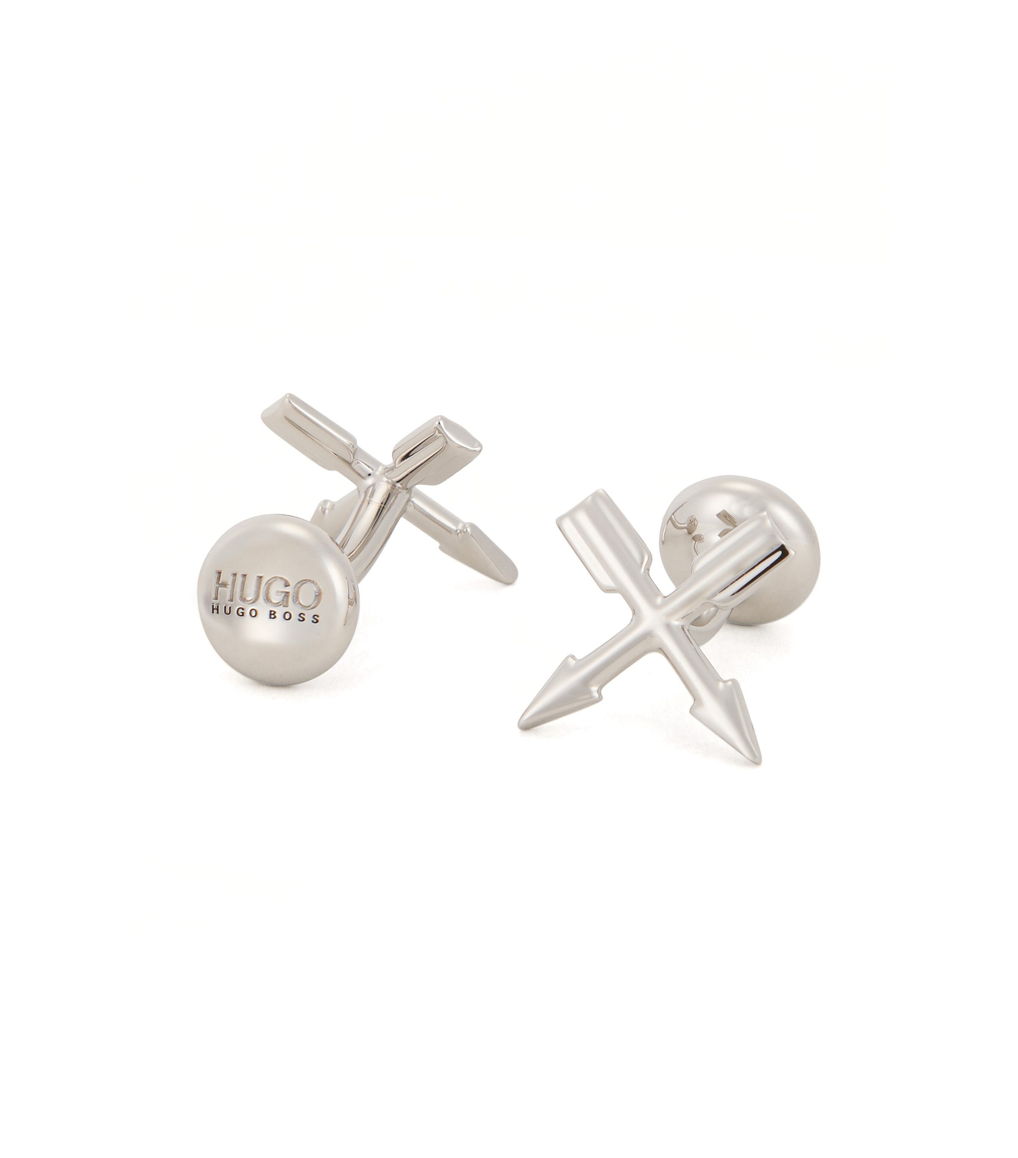 Arrows Brass Cufflinks | E-Flash, Silver