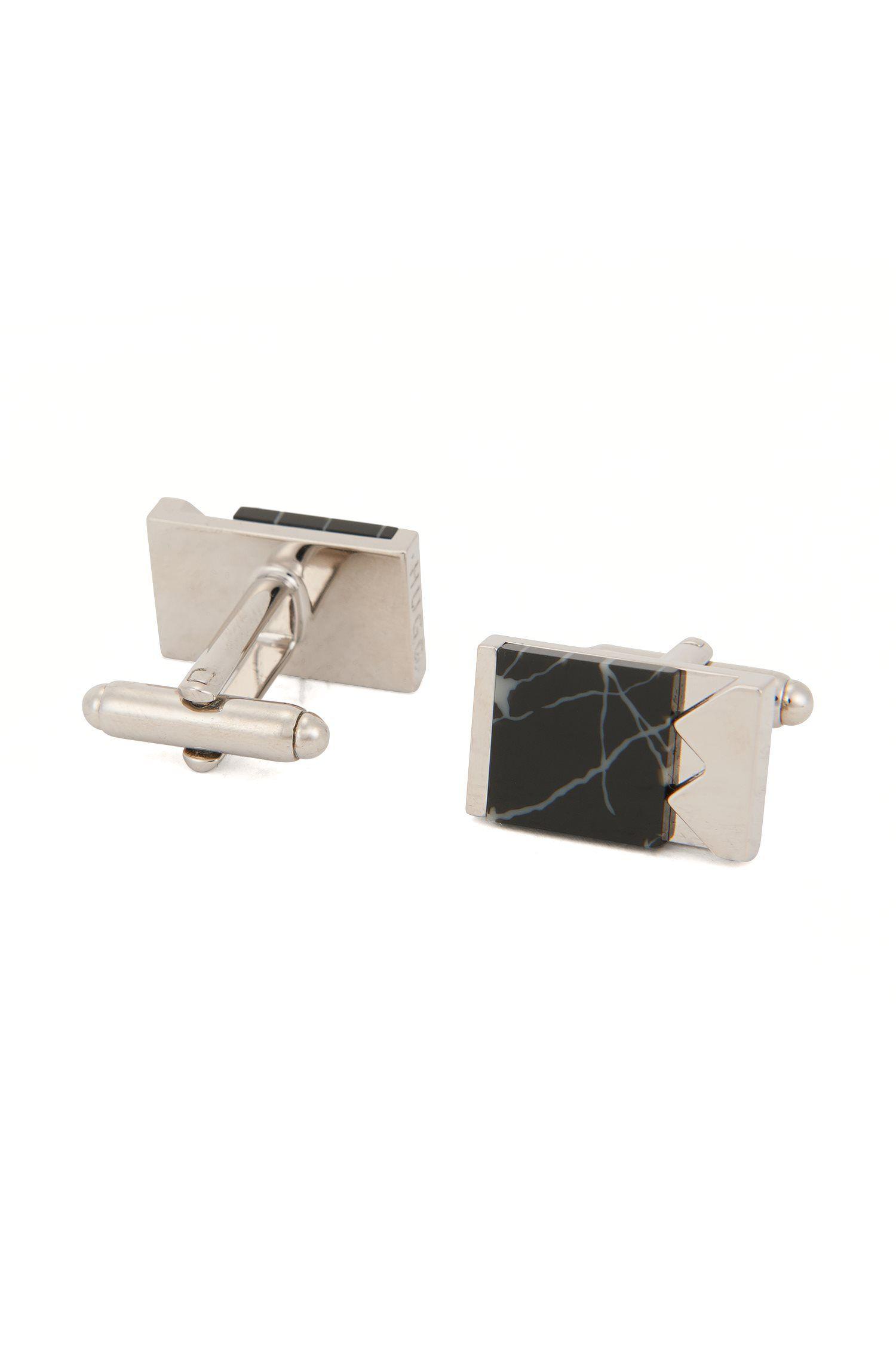Marble & Brass Cufflinks | E-Mixed