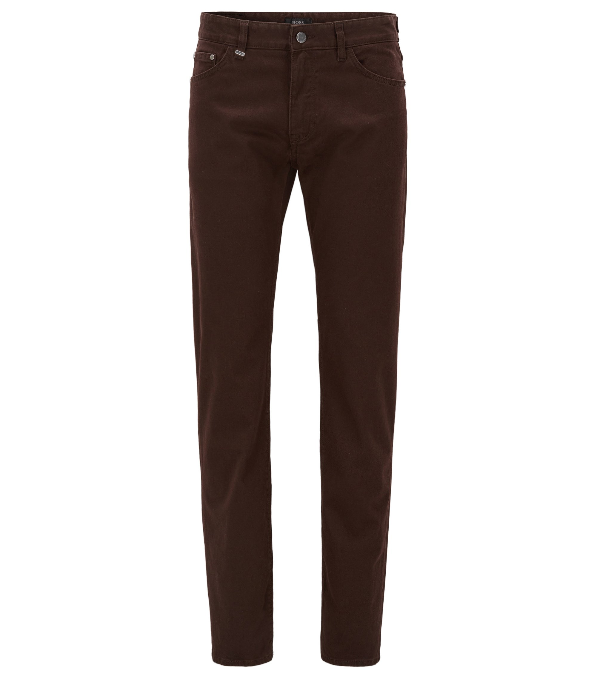 Italian Stretch Cotton Jean, Regular Fit | Maine, Dark Brown
