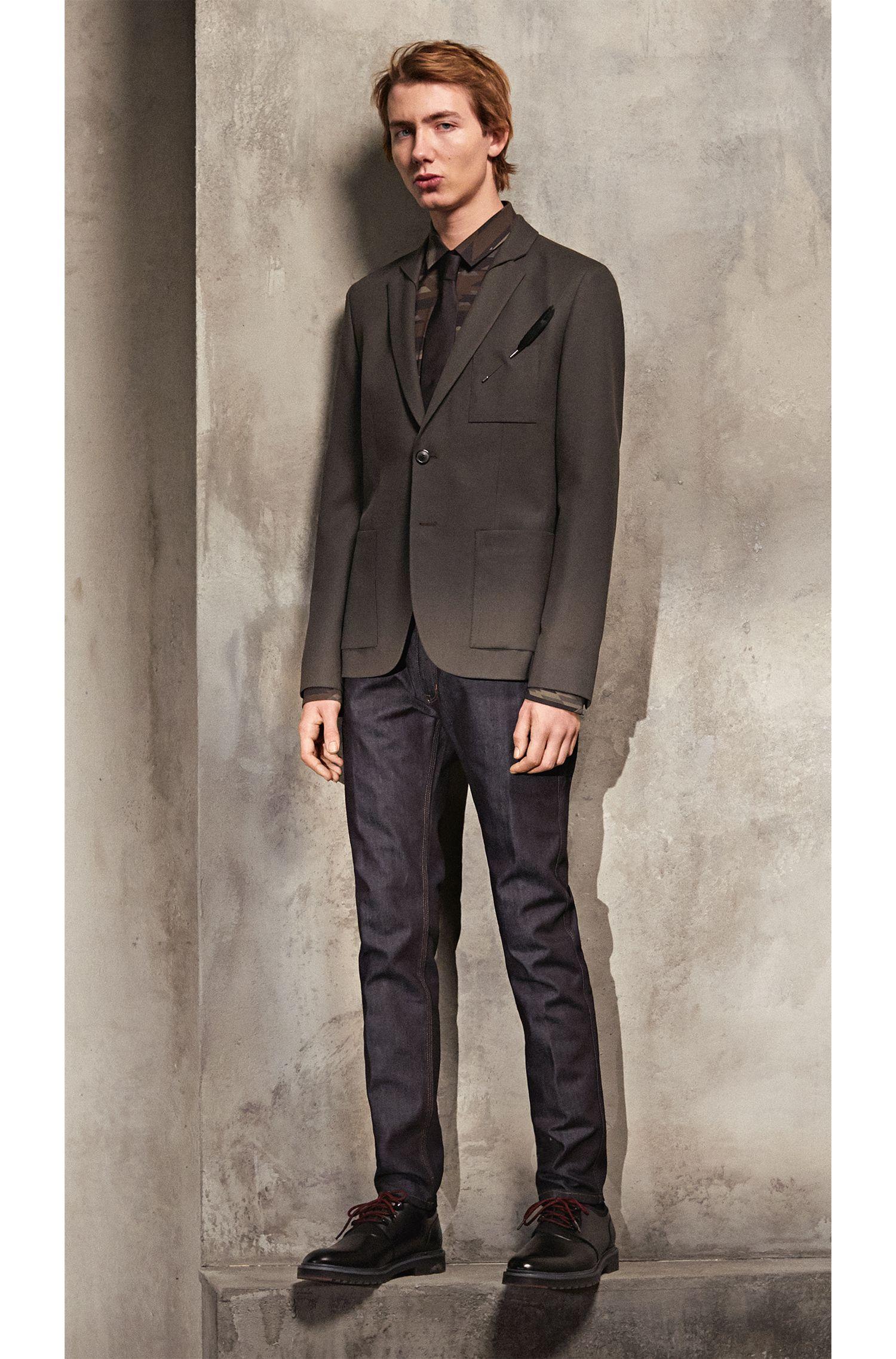 Camoflauge Cotton Button Down Shirt, Extra Slim Fit | Ero