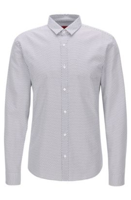 Oxford Cotton Button Down Shirt, Extra Slim Fit | Ero, Open White