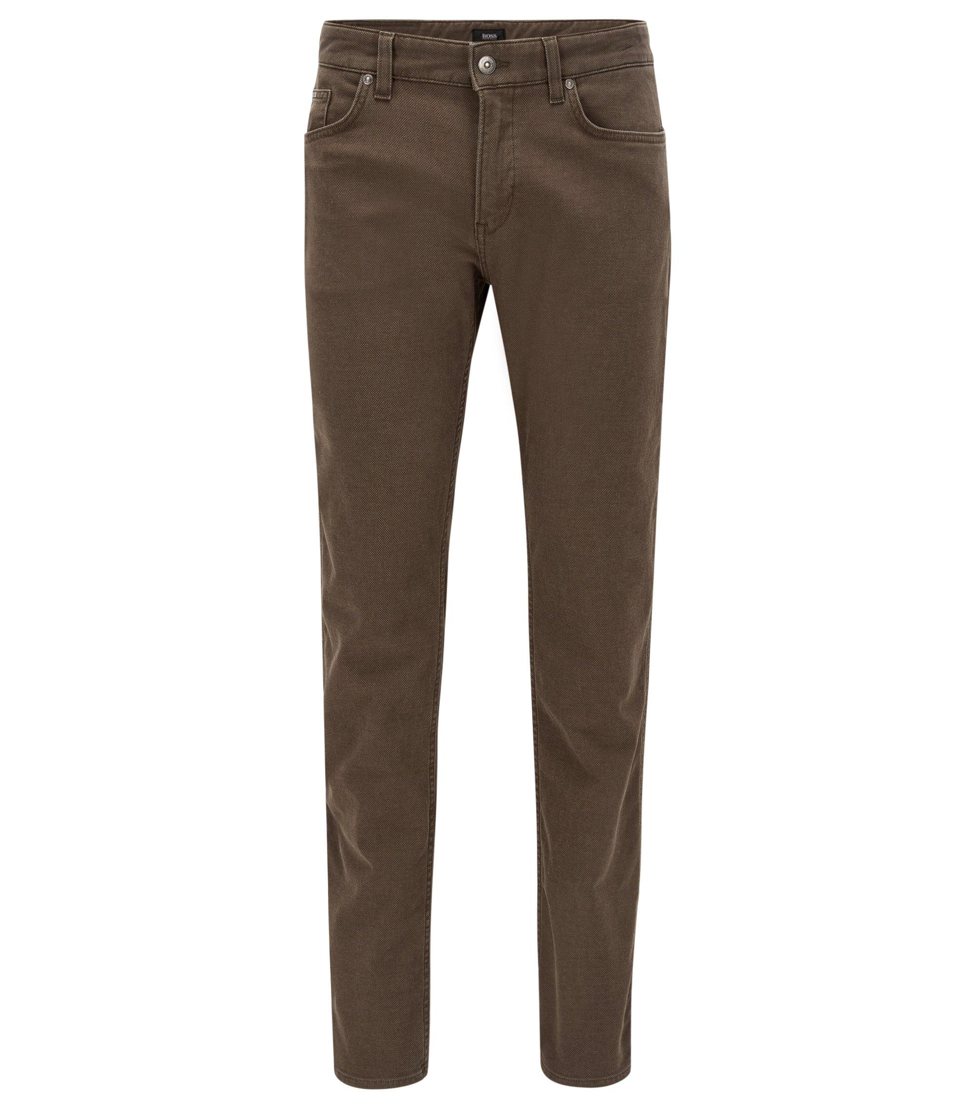 Stretch Cotton Jeans, Slim Fit | Delaware, Open Green