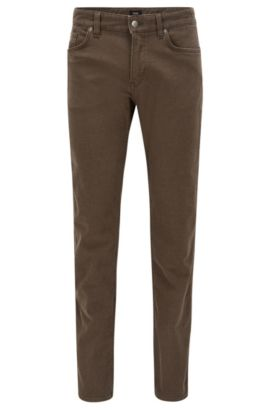 Stretch Cotton Jeans, Slim Fit | Delaware, Open Green