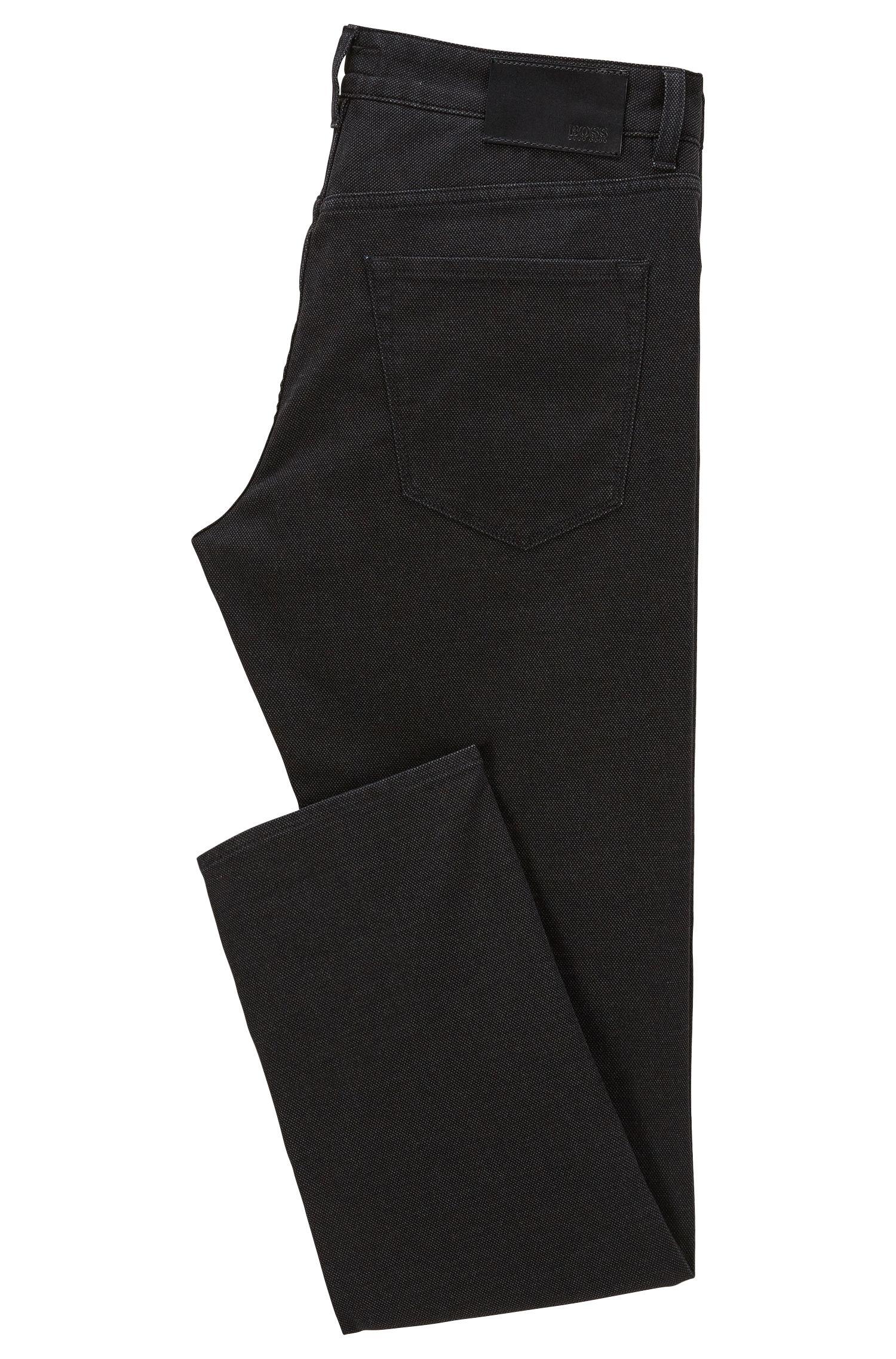 8 oz Stretch Cotton Jeans, Regular Fit | Maine, Dark Grey
