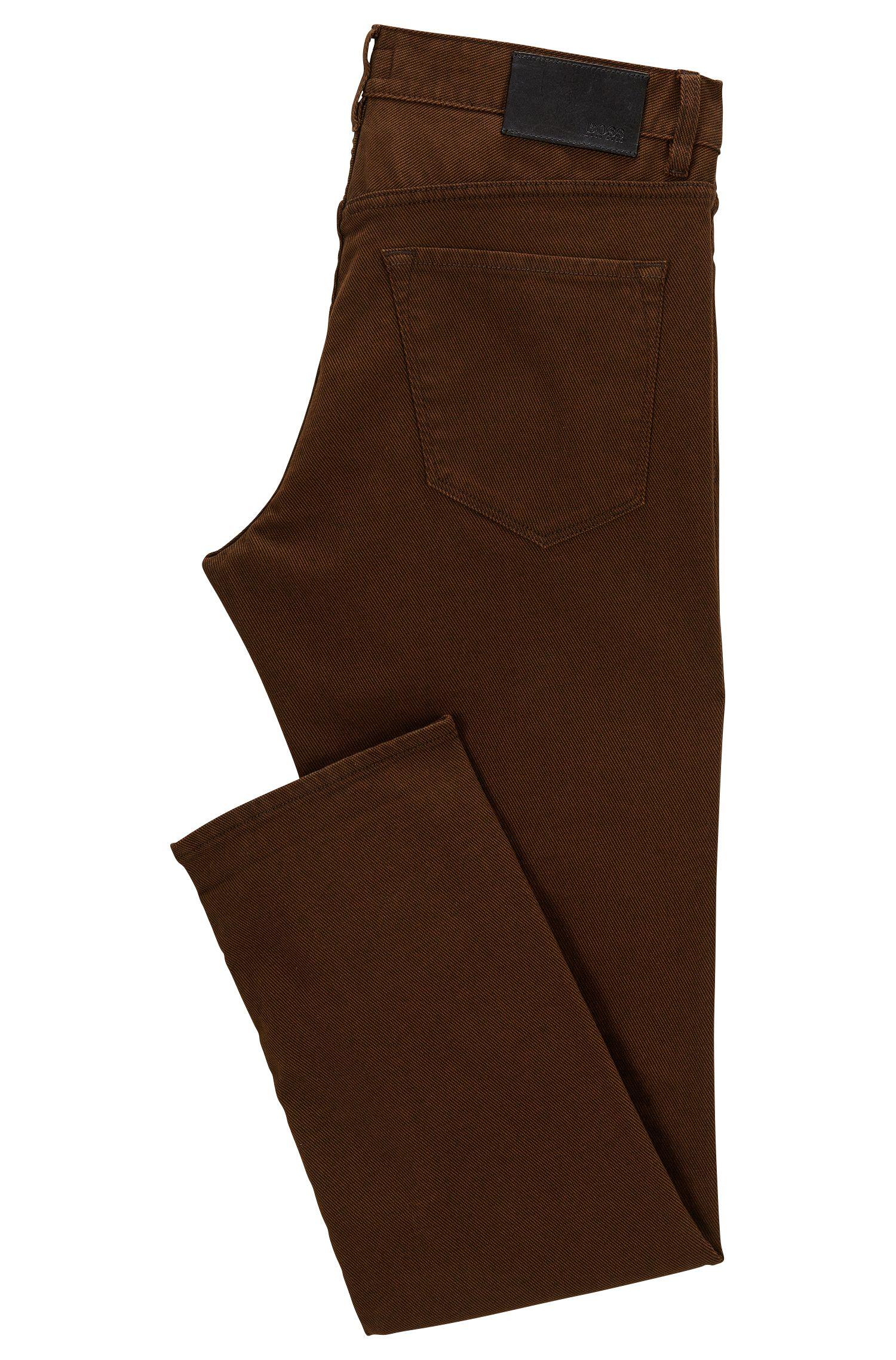 Stretch Cotton Jean, Regular Fit | Maine, Brown