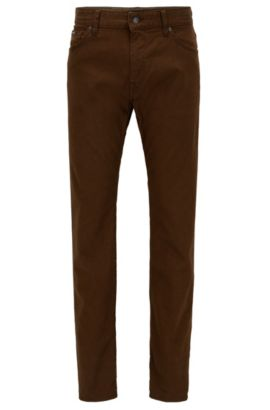 'Maine' | Regular Fit, Stretch Cotton Jeans, Brown