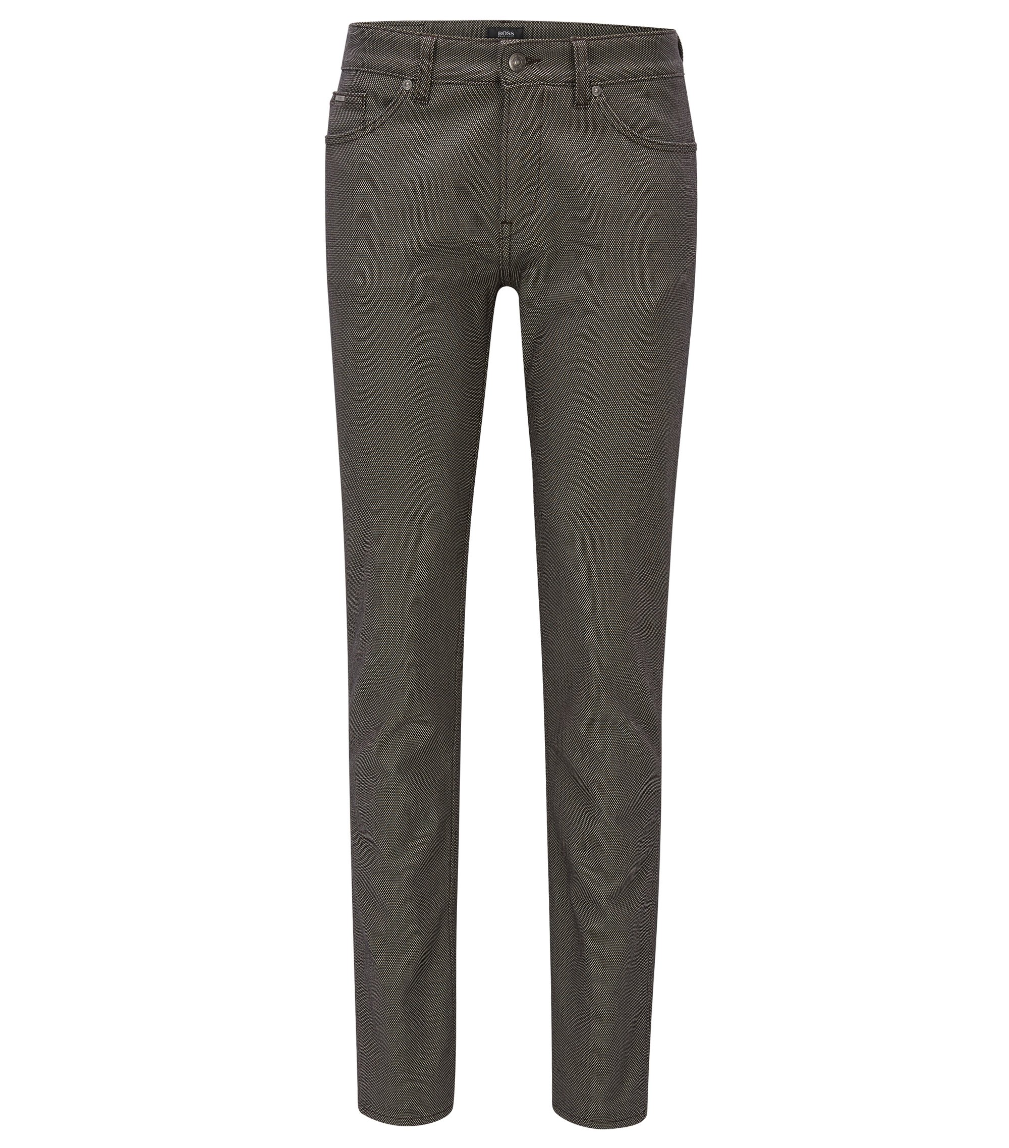 Birdseye Stretch Cotton Jean, Slim Fit | Delaware, Open Green