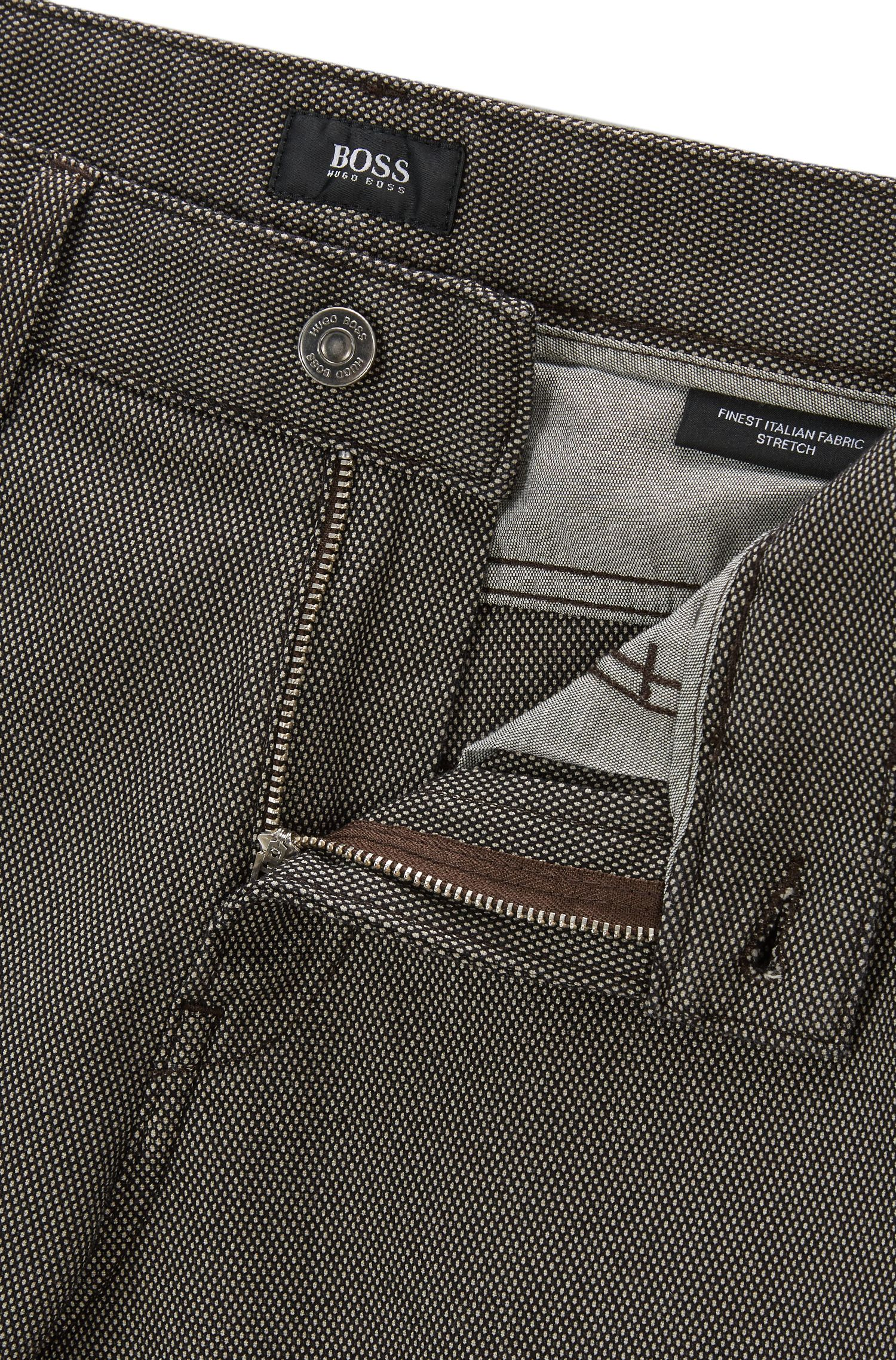 Birdseye Stretch Cotton Jean, Slim Fit | Delaware, Open Green