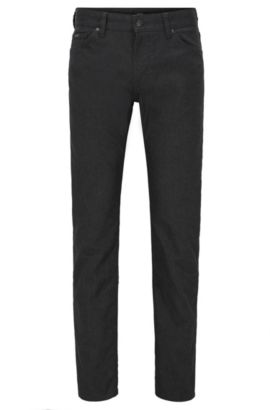 Stretch Cotton Jeans, Regular Fit | Maine, Black
