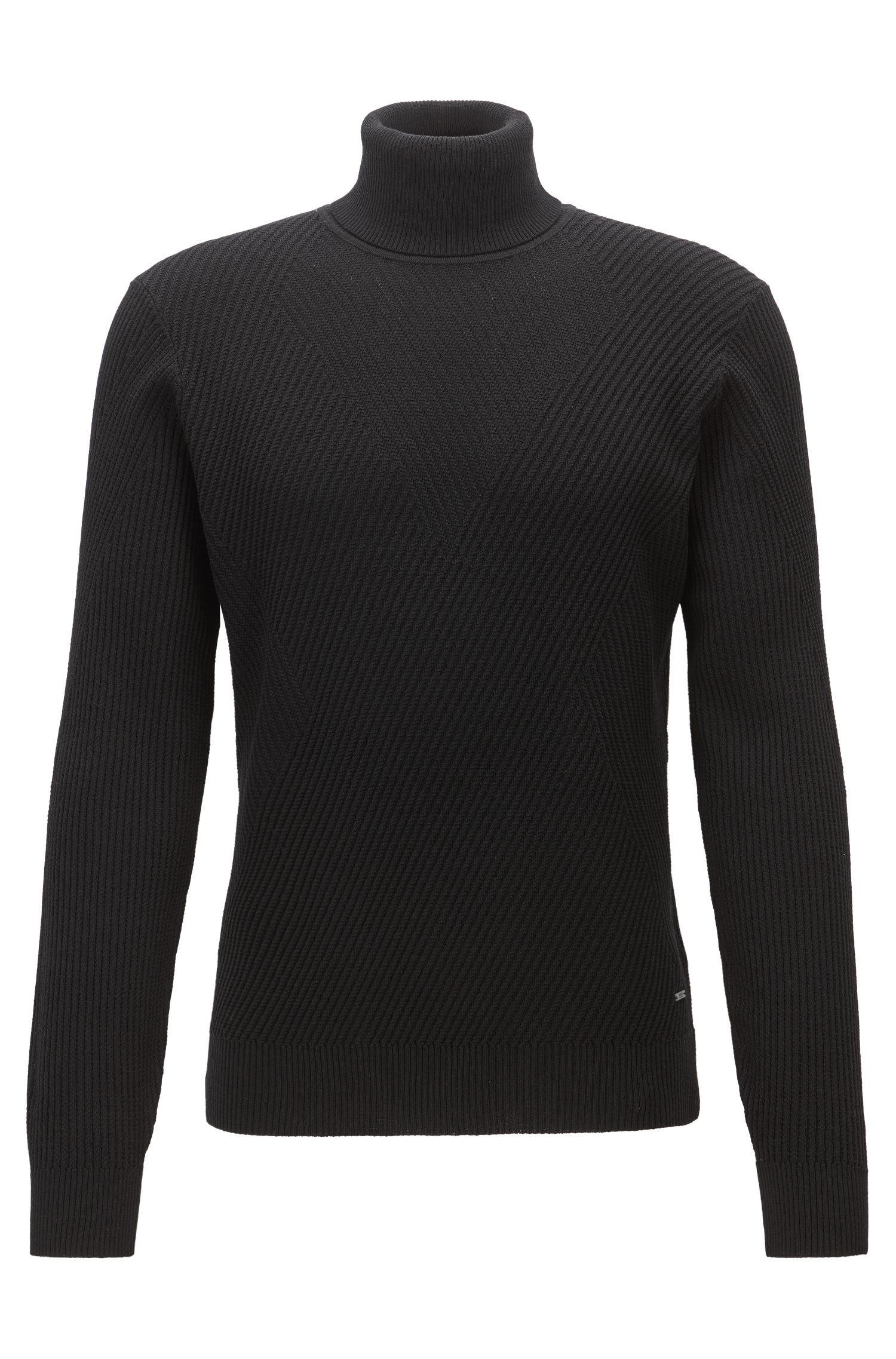 Ribbed Virgin Wool Sweater | Nazzaro