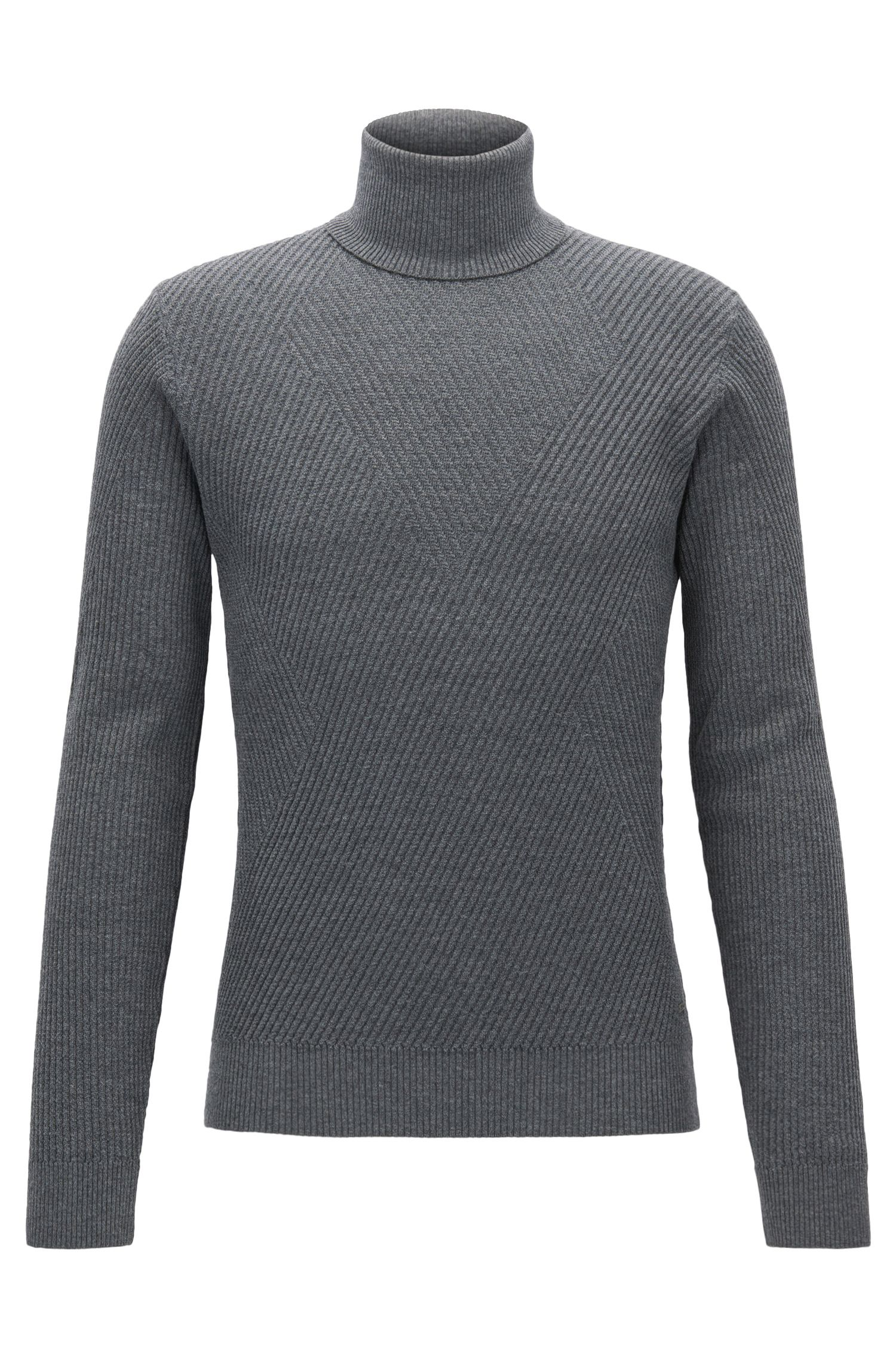 Ribbed Virgin Wool Sweater   Nazzaro