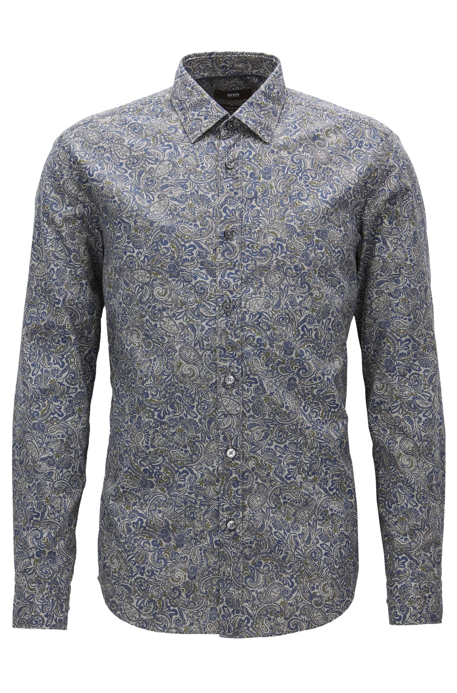 Paisley Cotton Button Down Shirt, Regular Fit | Lukas