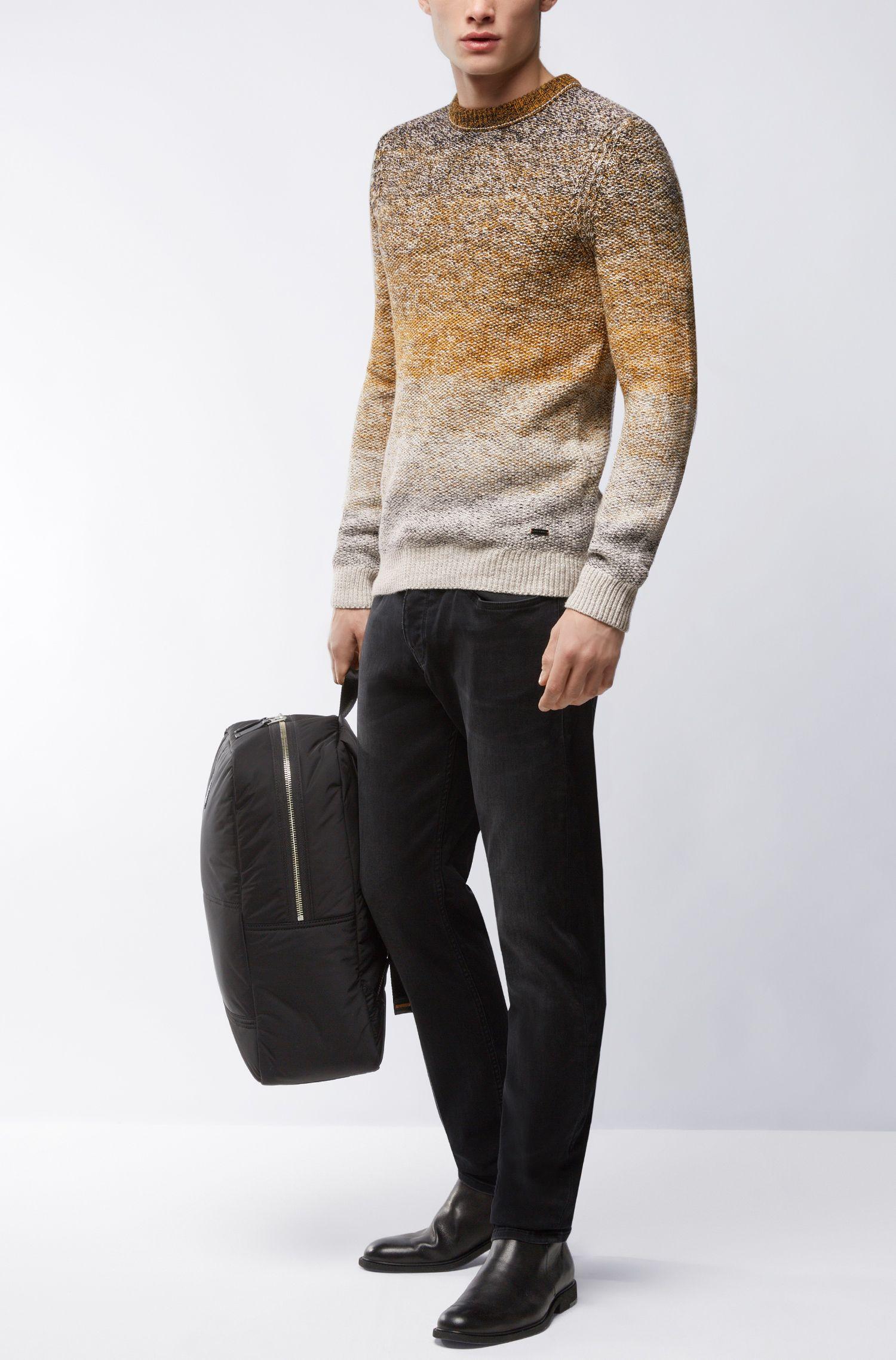 'Arduage' | Gradient Cotton Sweater, Open White