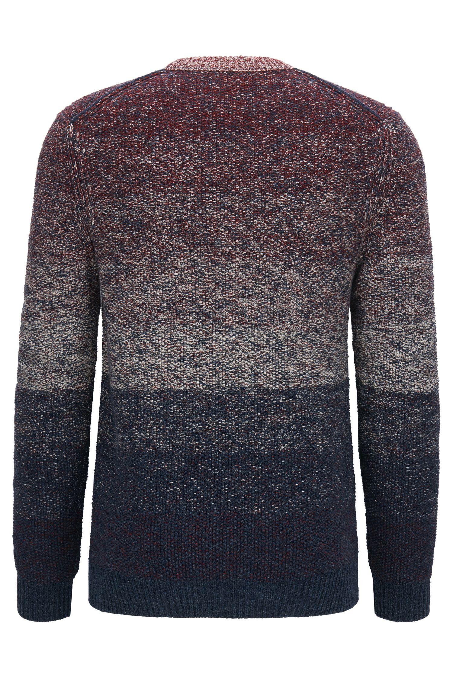 'Arduage' | Gradient Cotton Sweater, Dark Blue