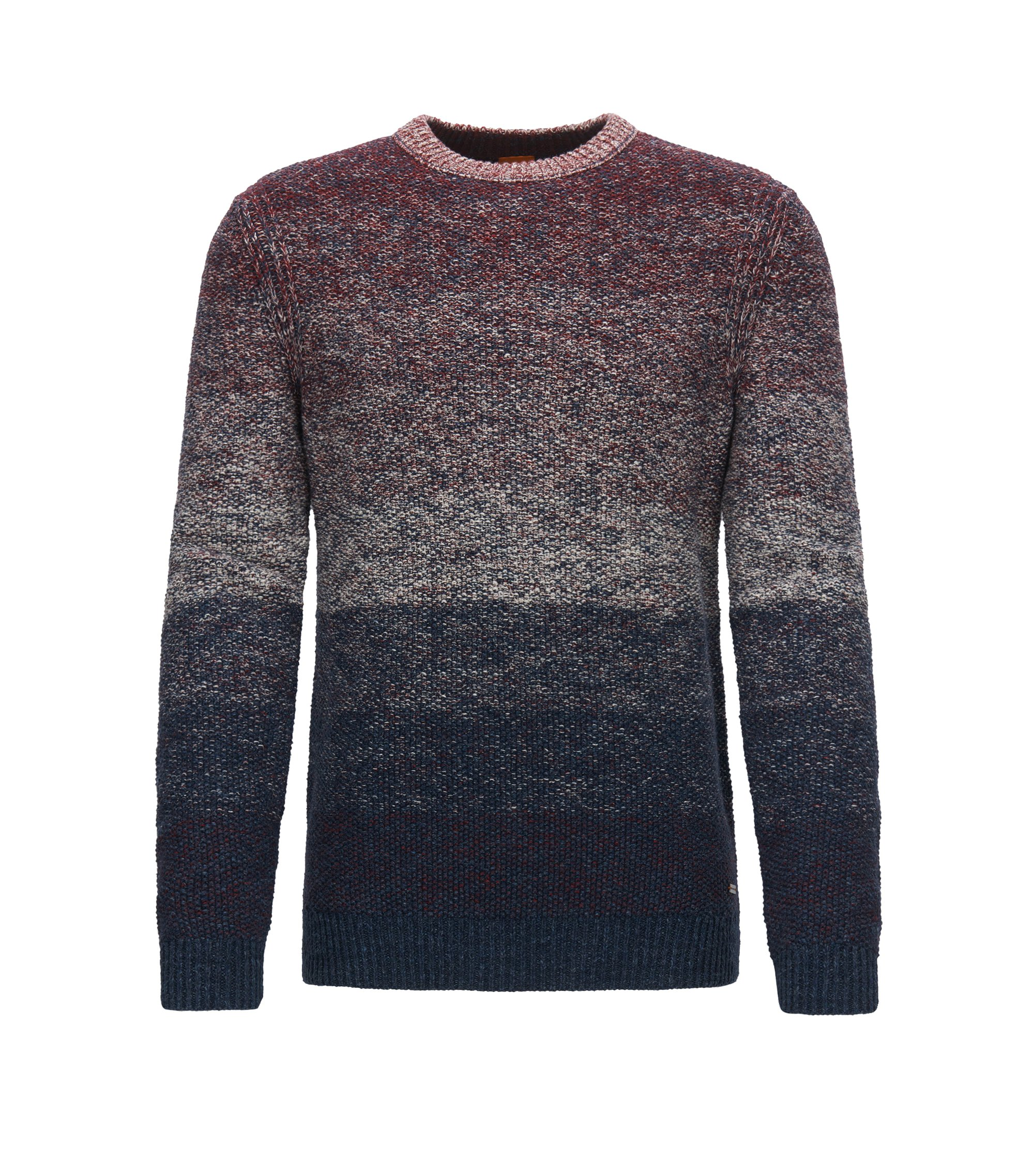 'Arduage' | Gradient Cotton Sweater, Dark Blue
