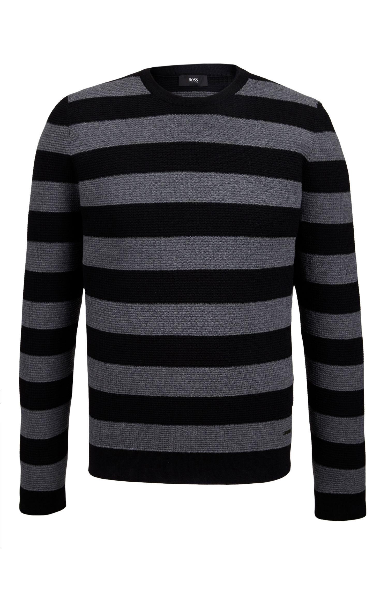 Striped Virgin Wool Sweater | Nantoni