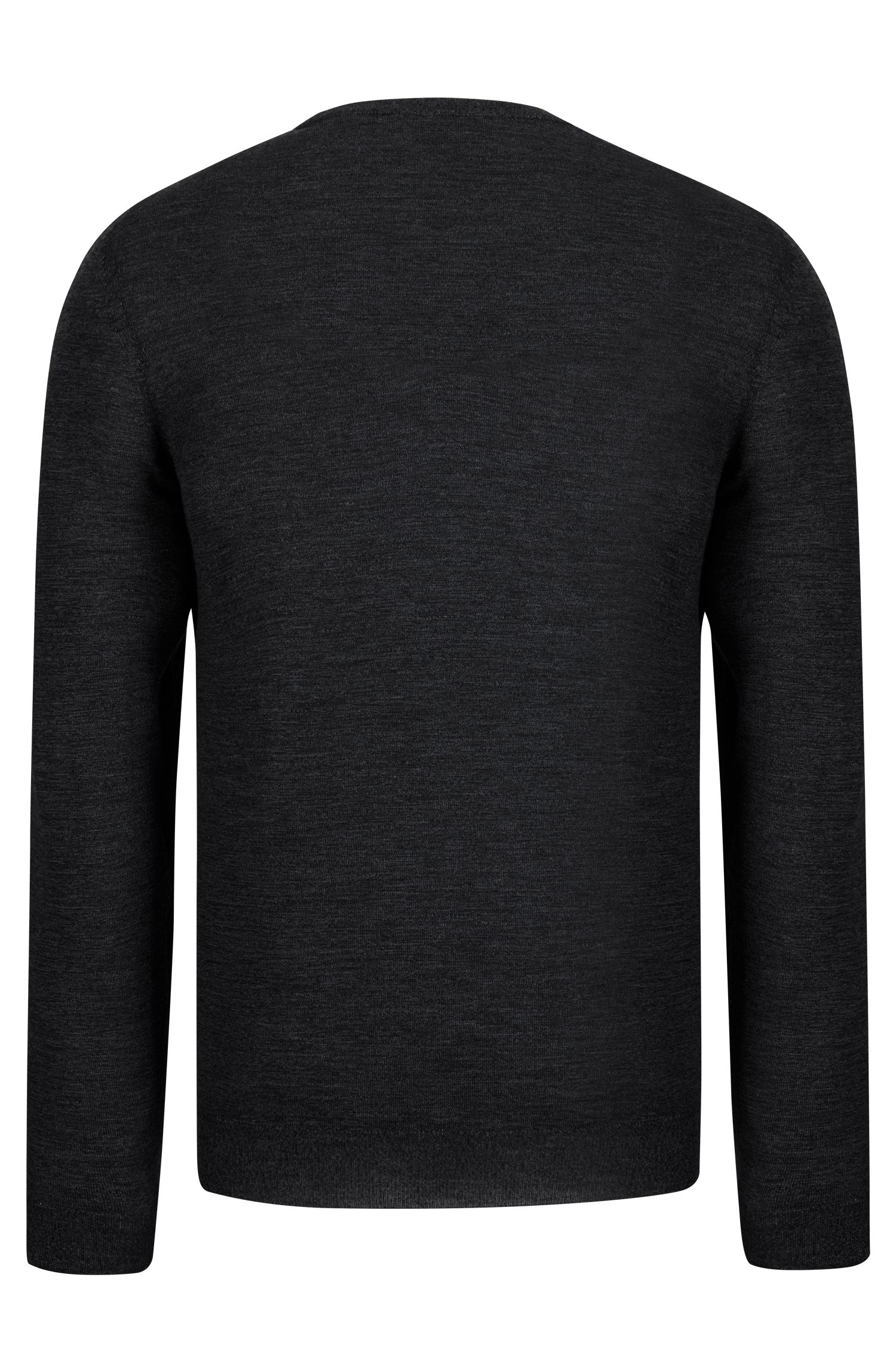 V-Neck Wool Sweater | 'Melba', Black