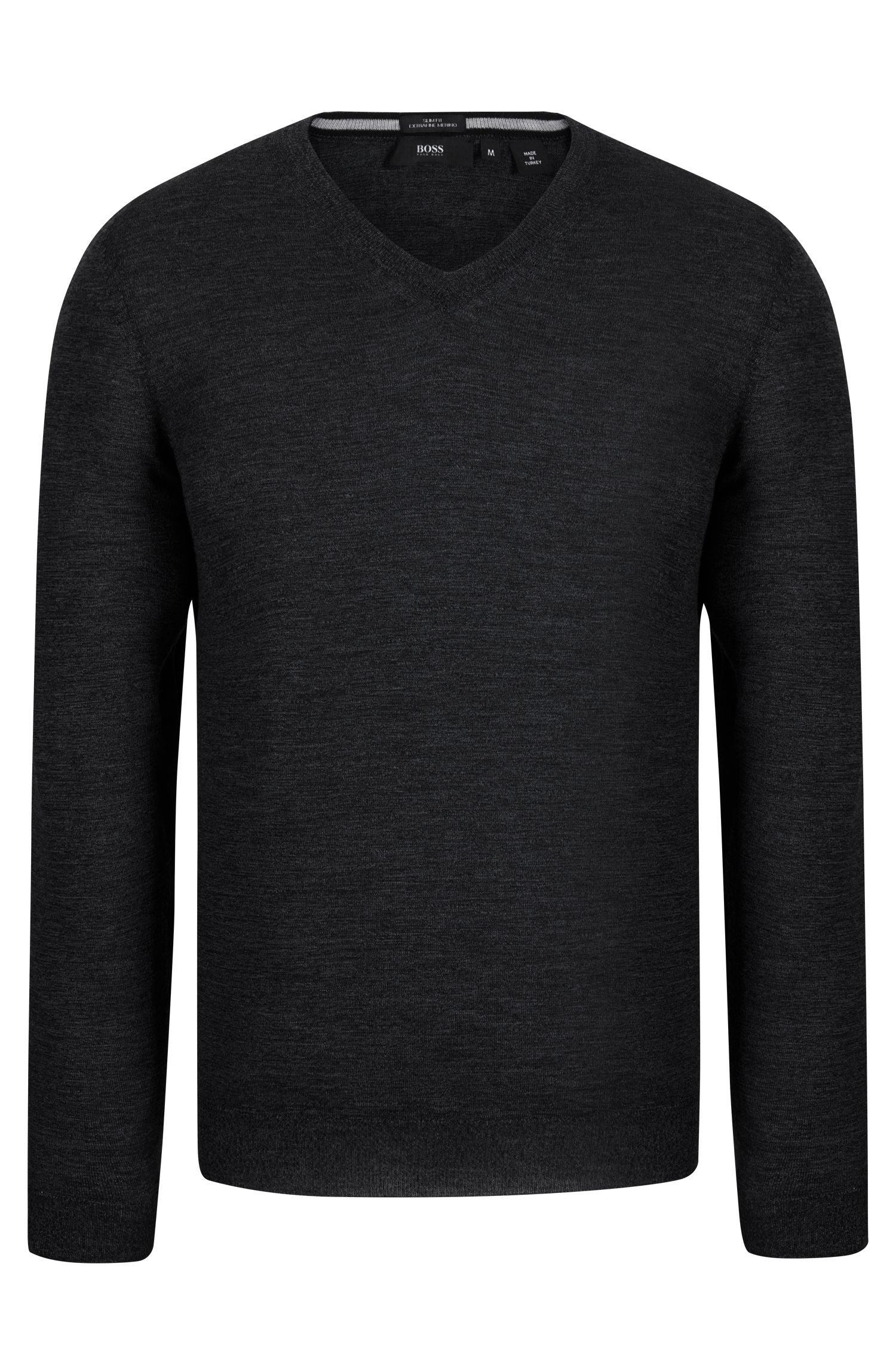 V-Neck Wool Sweater | 'Melba'