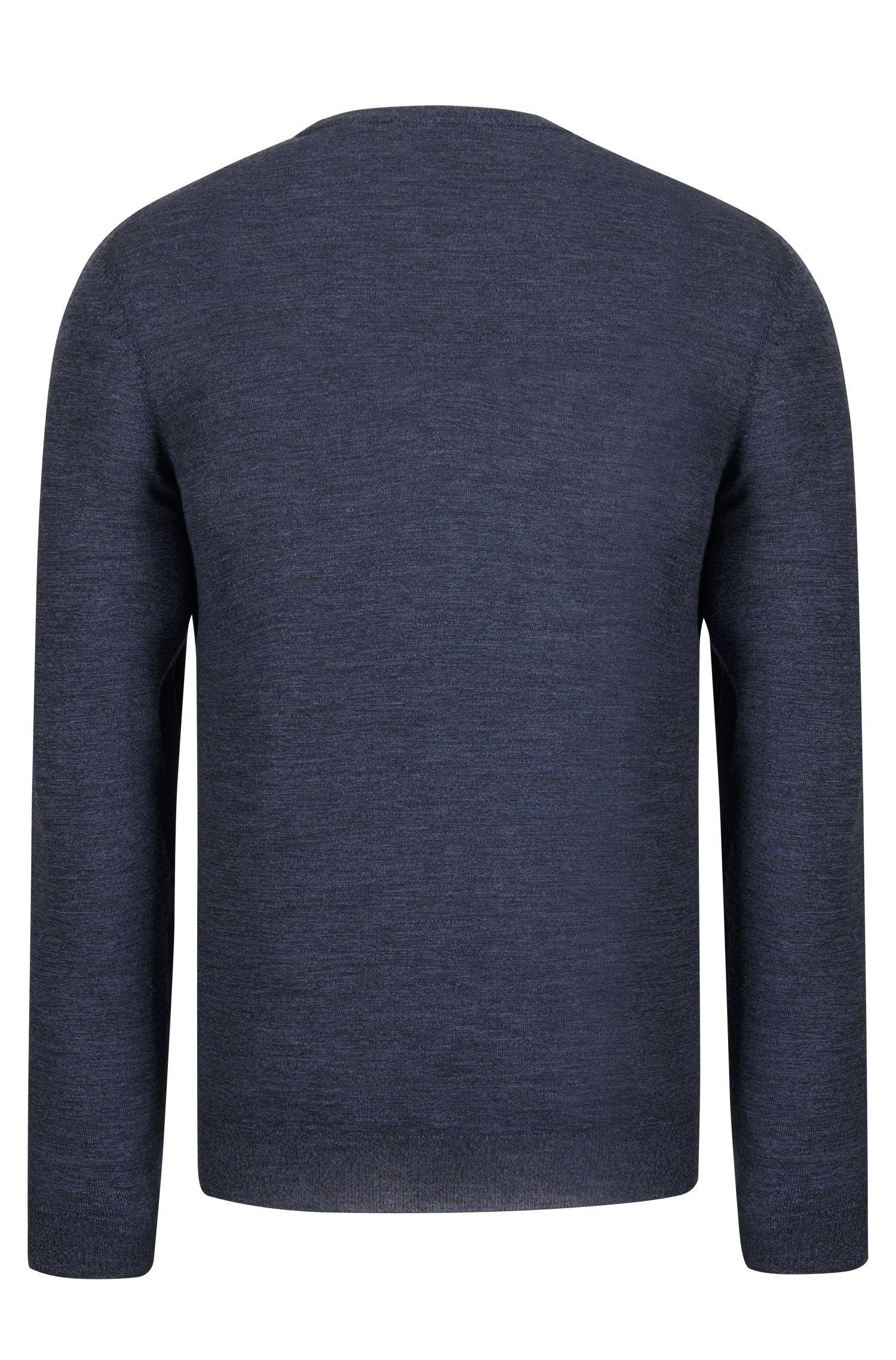 V-Neck Wool Sweater | 'Melba', Dark Blue