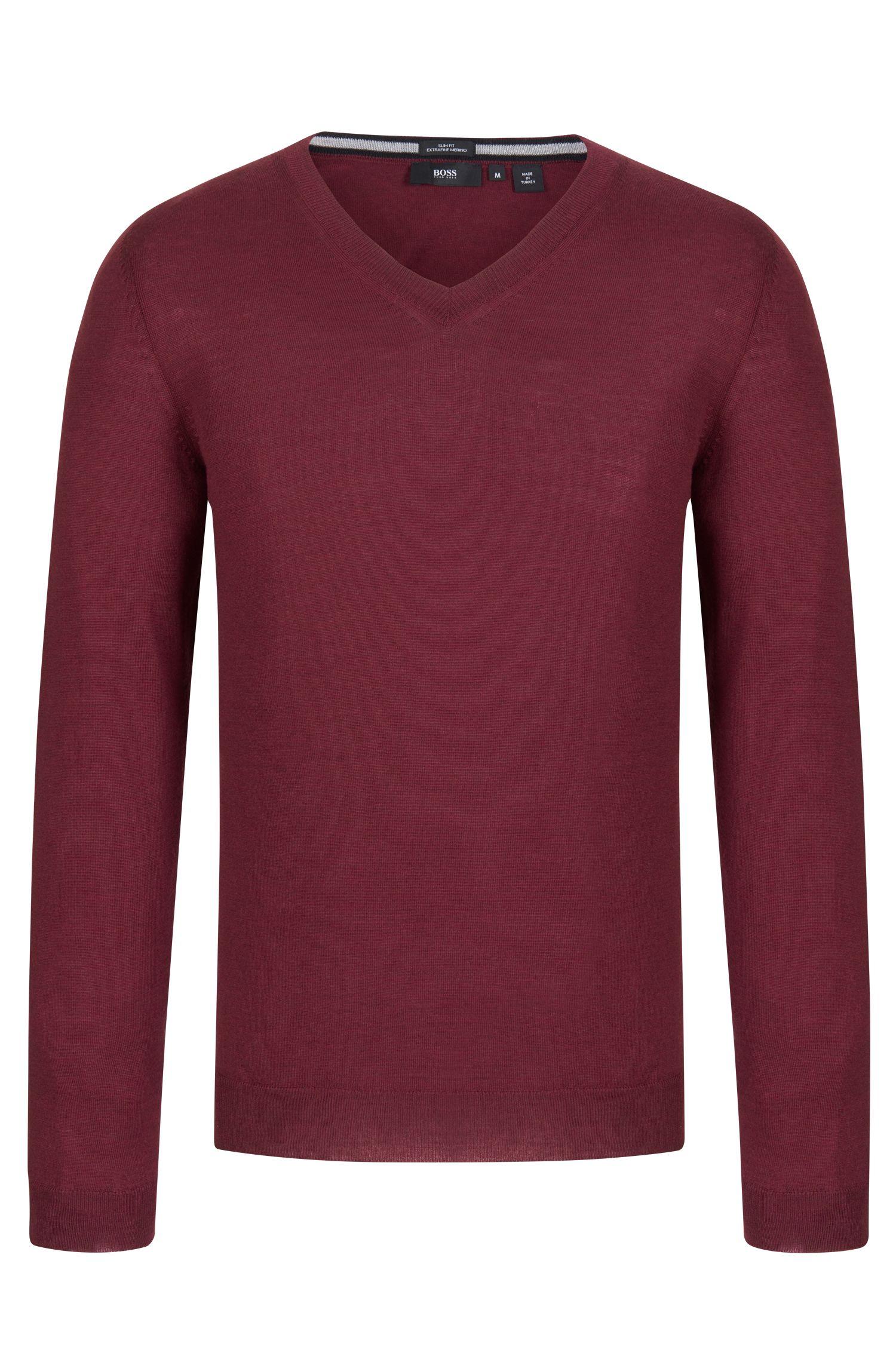 V-Neck Wool Sweater | 'Melba'