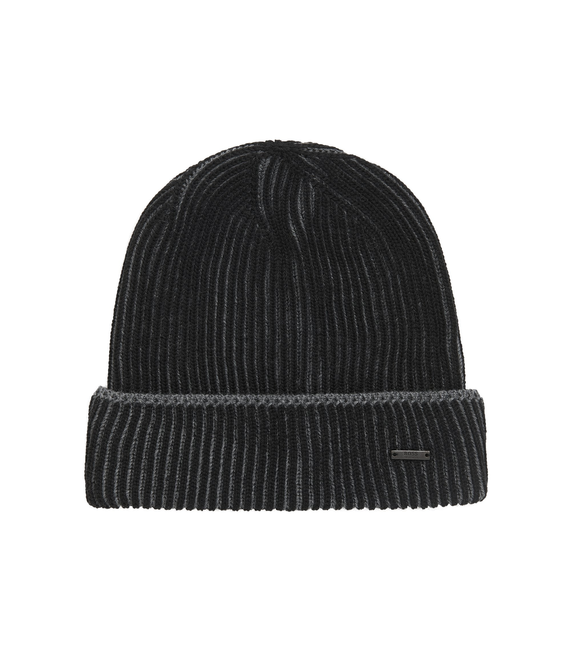 Virgin Wool Beanie | Balerio WS, Black