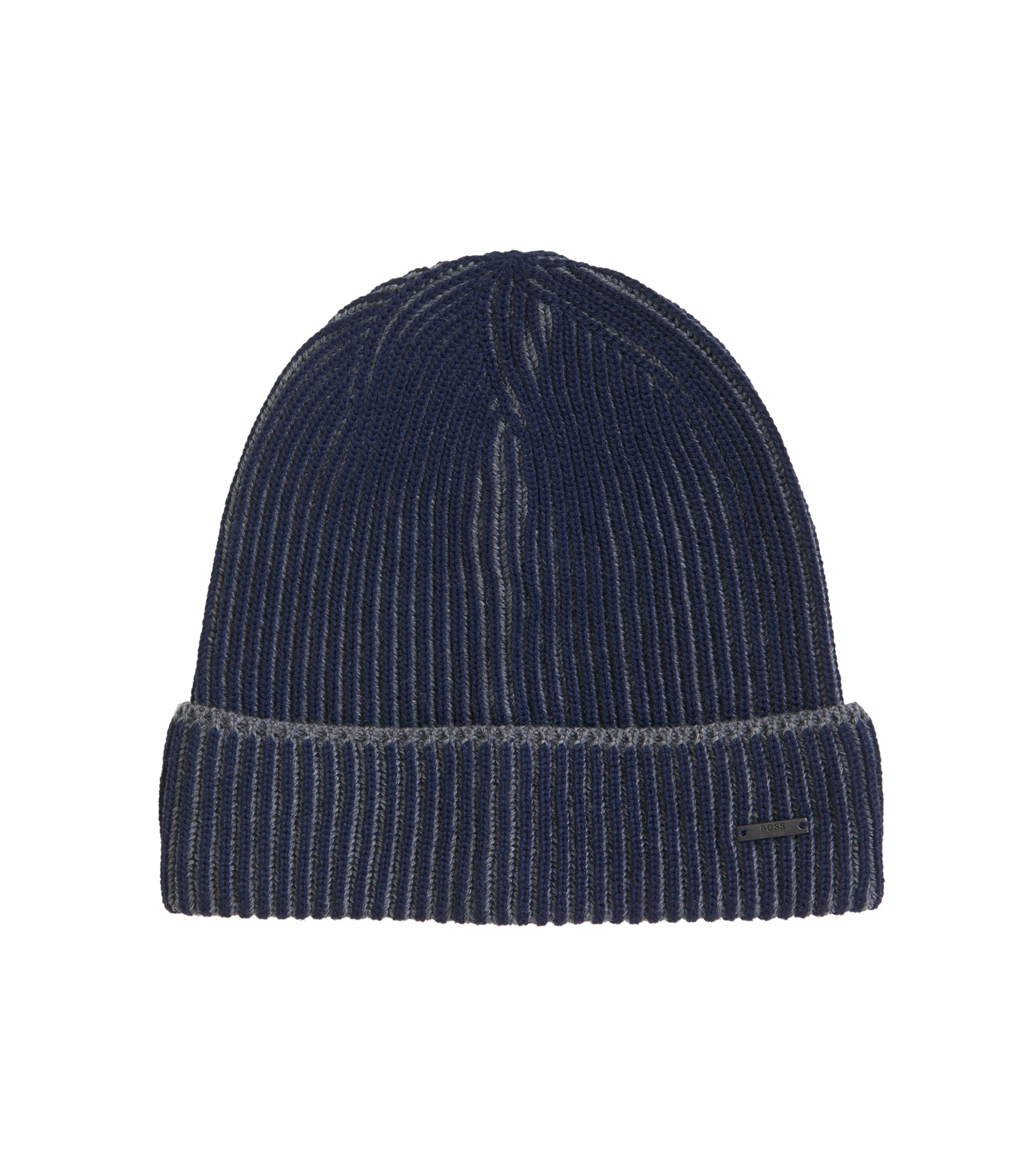 Virgin Wool Beanie | Balerio WS, Dark Blue